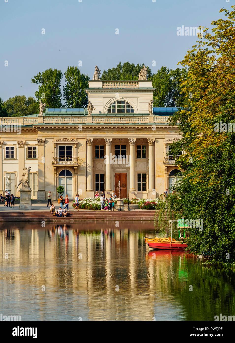 Lazienki Park Mit Lazienki Palace Royal Bäder Park Warschau