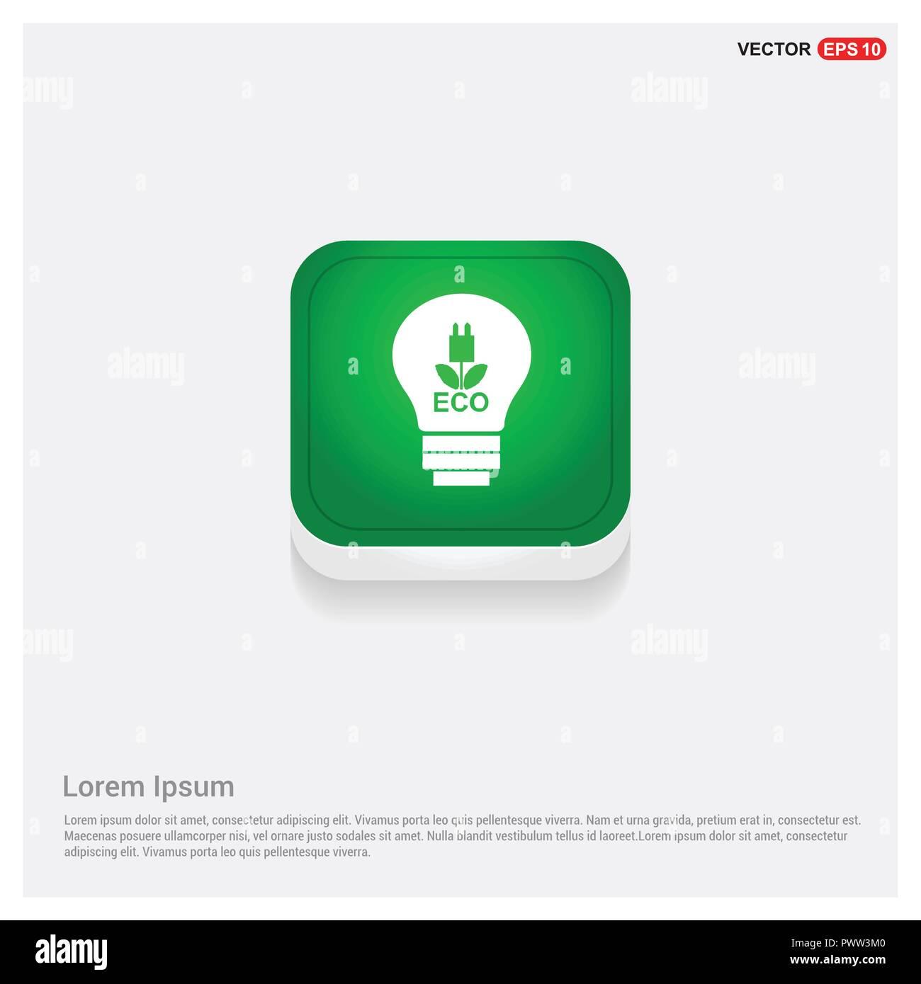 Ökologie Glühlampe Symbol Stock Vektor