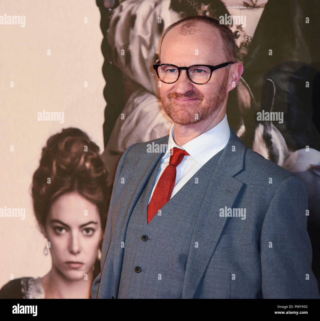 "London, Großbritannien. 18. Oktober, 2018. Mark Gatiss besucht die UK-Premiere von ""Der Favorit"" & American Express Gala am 62. BFI London Film Festival am 18. Oktober in London, England 2018. Credit: Gary Mitchell, GMP-Media/Alamy leben Nachrichten Stockfoto"
