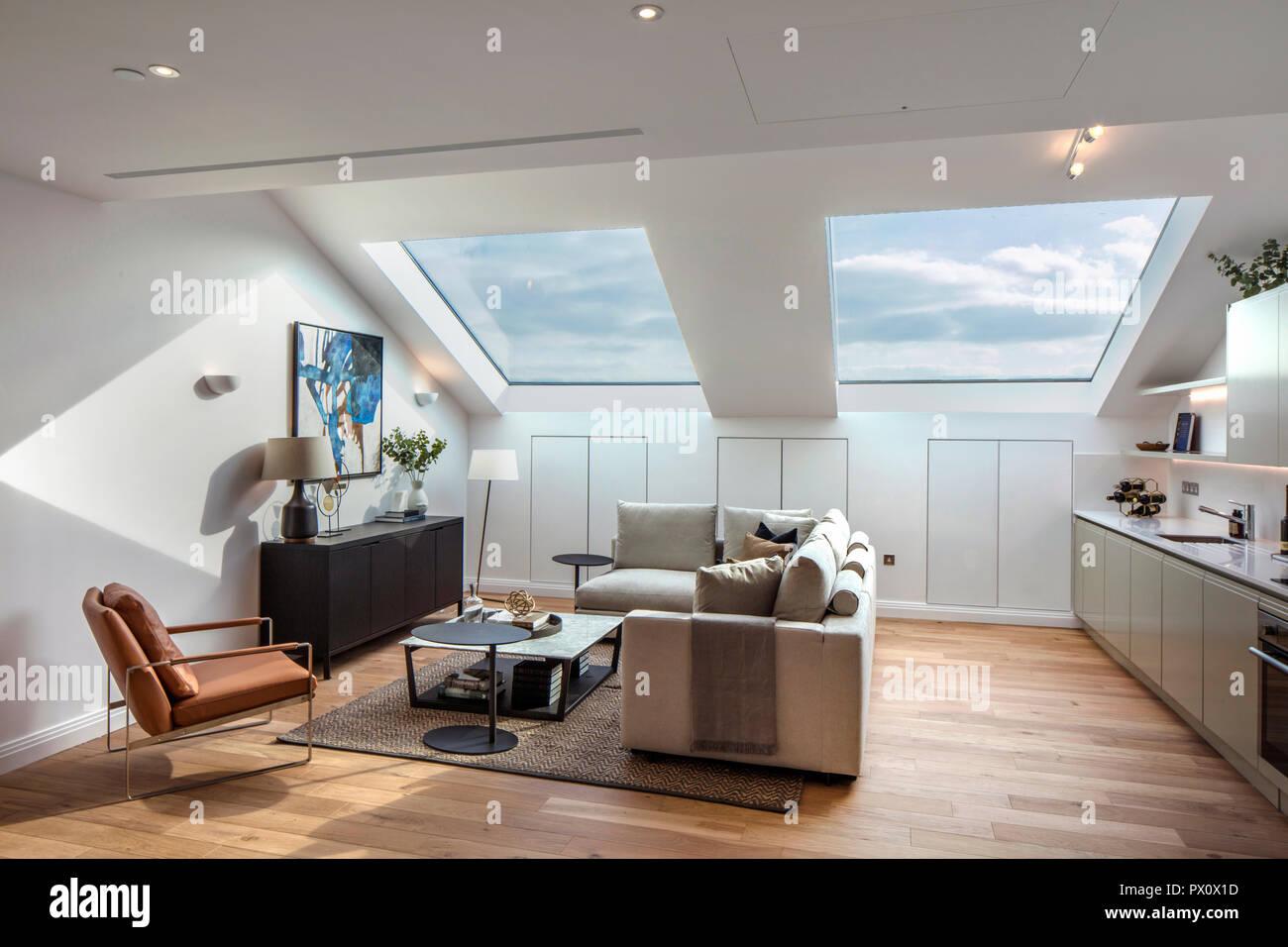 Gut gemocht Offene Küche, Ess- und Wohnzimmer im berühmten Art déco-Hoover SH67