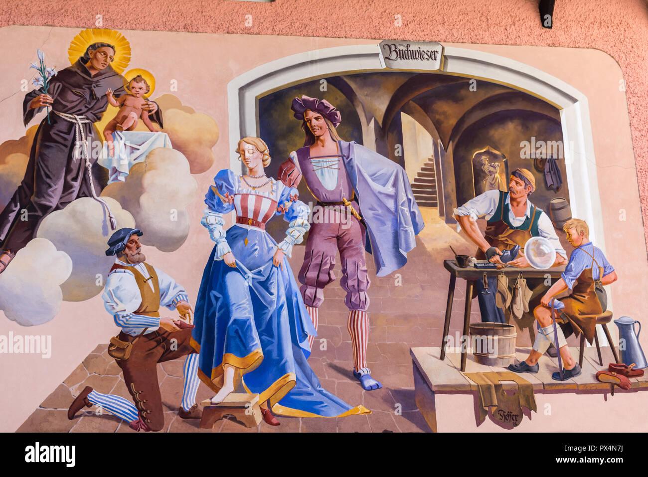 Luftlmalerei Oder An Die Wand Malen Garmisch Partenkirchen Bayern