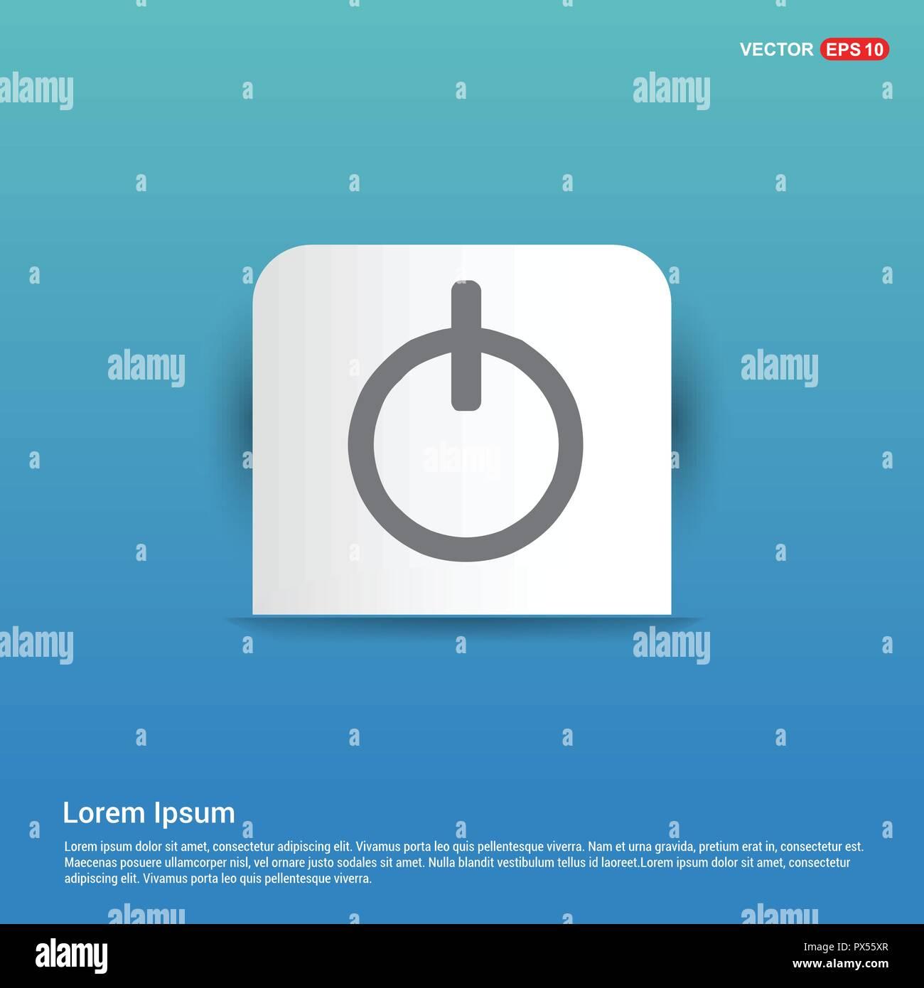 Einaus Schalter Icon Blauen Aufkleber Button Vektor