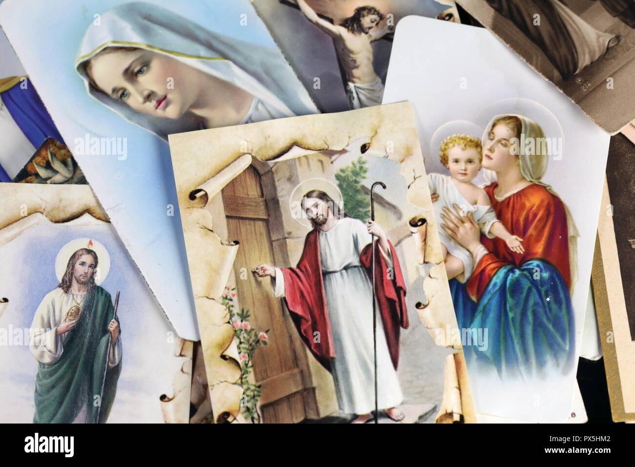 Heiligen Bilder von Jesus und der Jungfrau Maria. Stockbild
