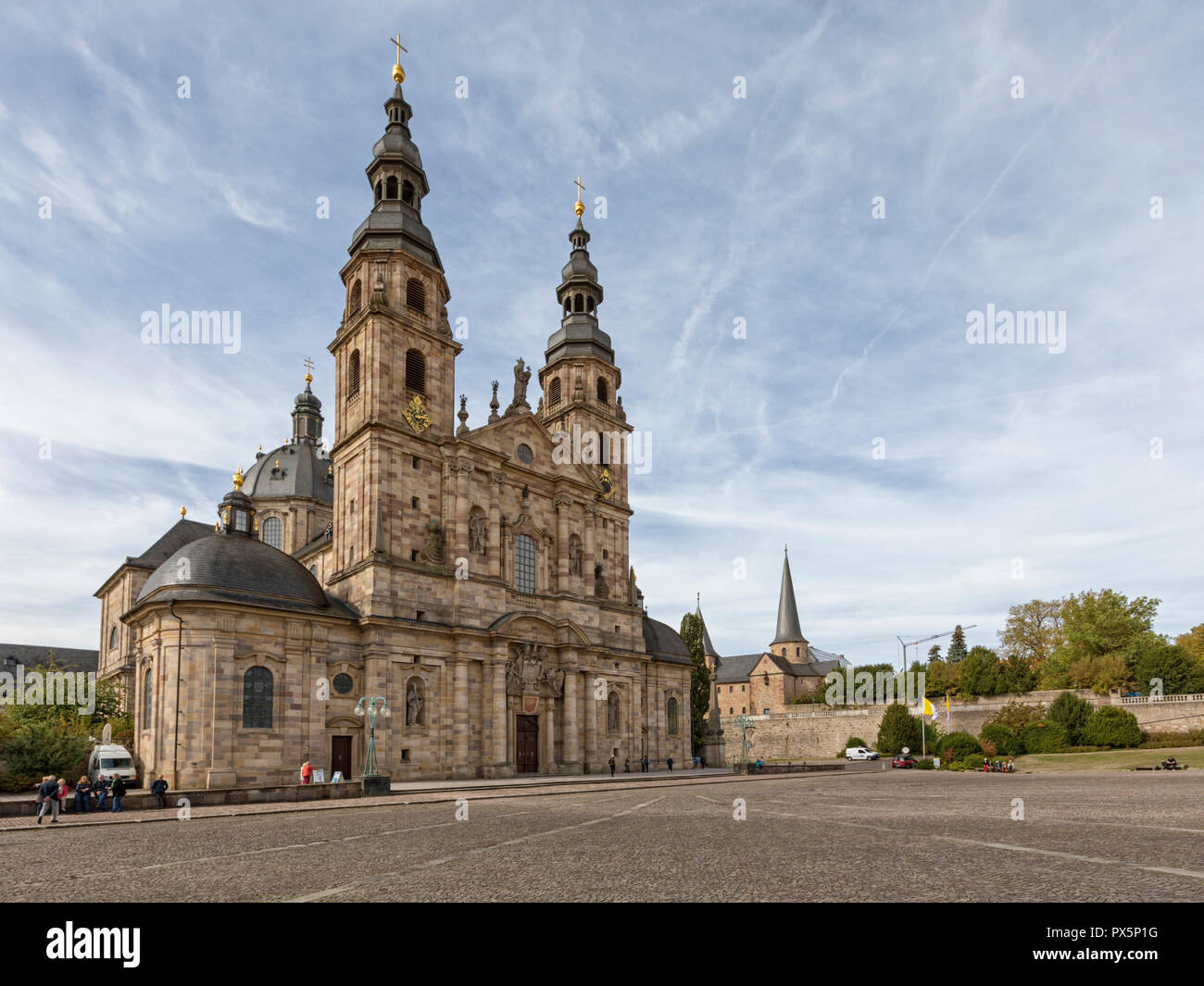 Fuldaer Dom am Domplatz, Hessen, Deutschland Stockbild