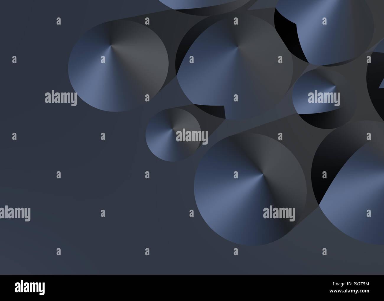 Abstrakte kegel Hintergrund, 3D Stockbild