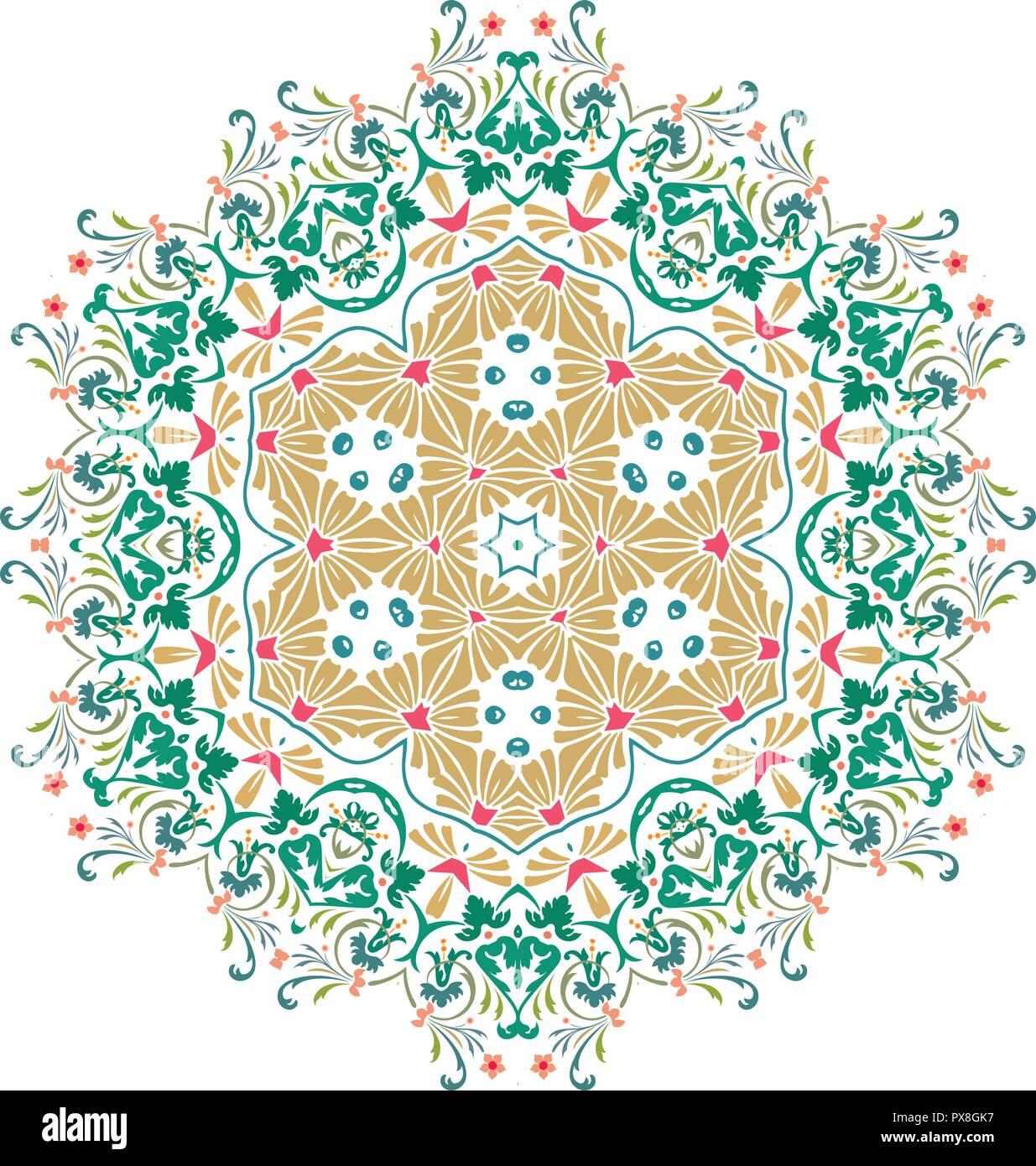 Mandala Vektor Mandala Blumen Blume Mandala Mandala