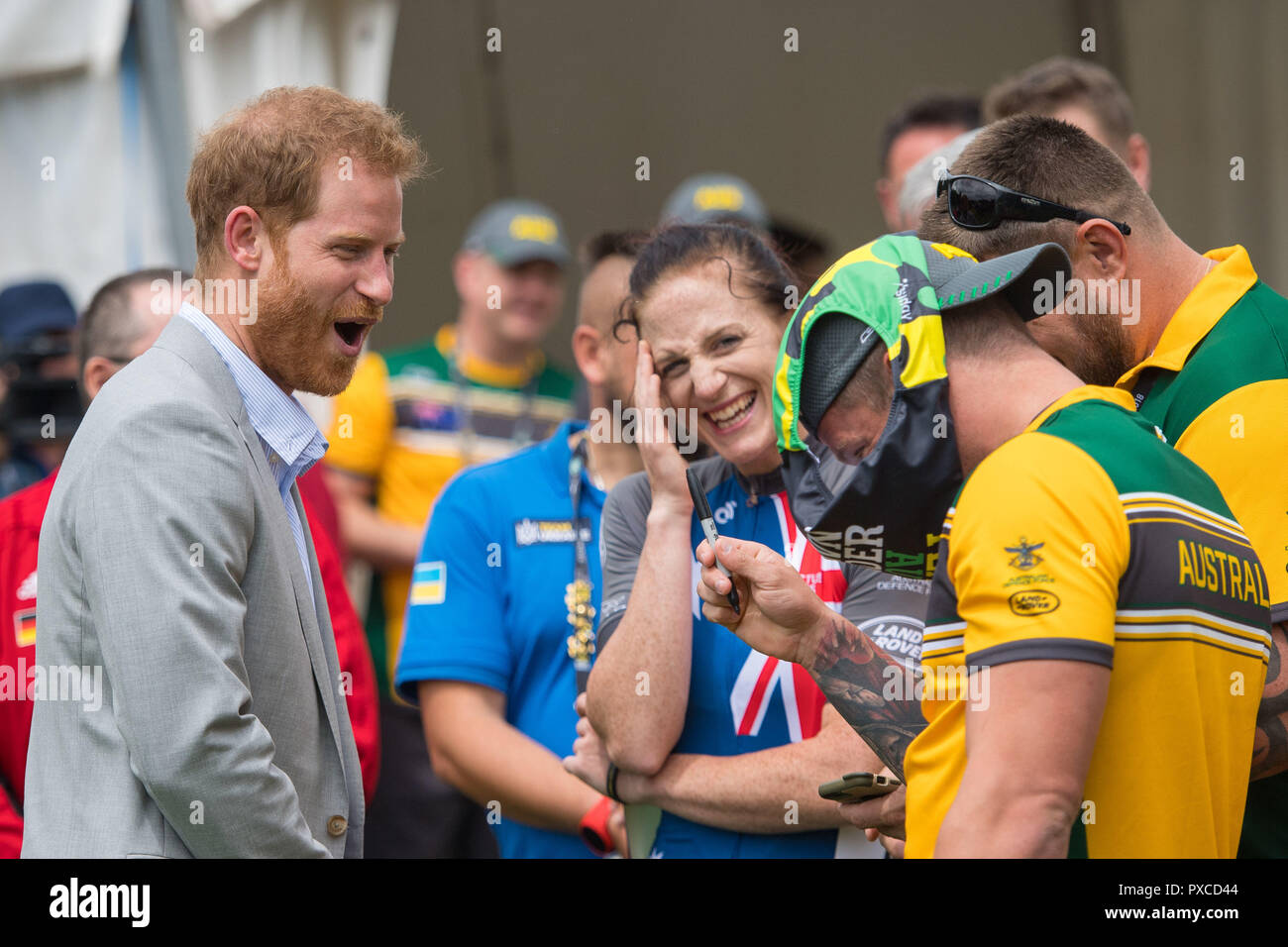 Der Herzog Von Sussex Reagiert Wie Australische Invictus Games