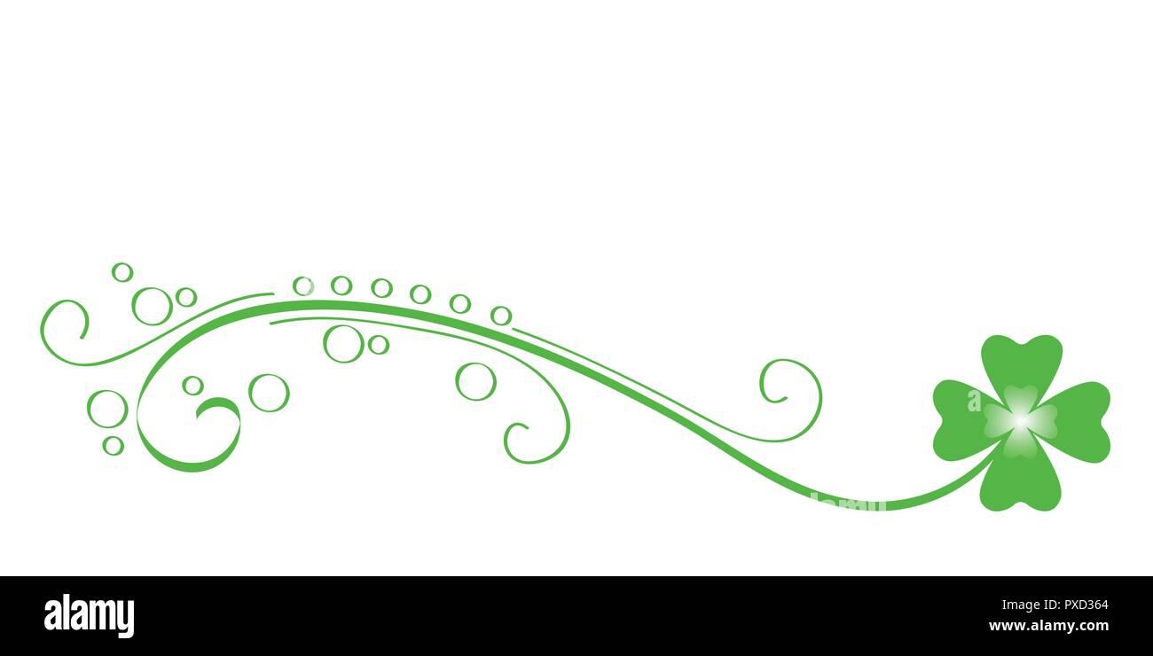 Grüne ranke Four Leaf Clover Vektor-illustration EPS 10. Stockbild