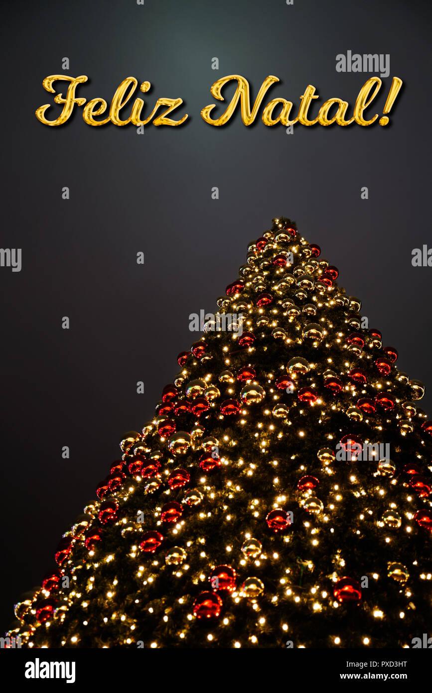 Amerikanische Weihnachtsgrüße.Portugiesisch Weihnachten Stockfotos Portugiesisch Weihnachten