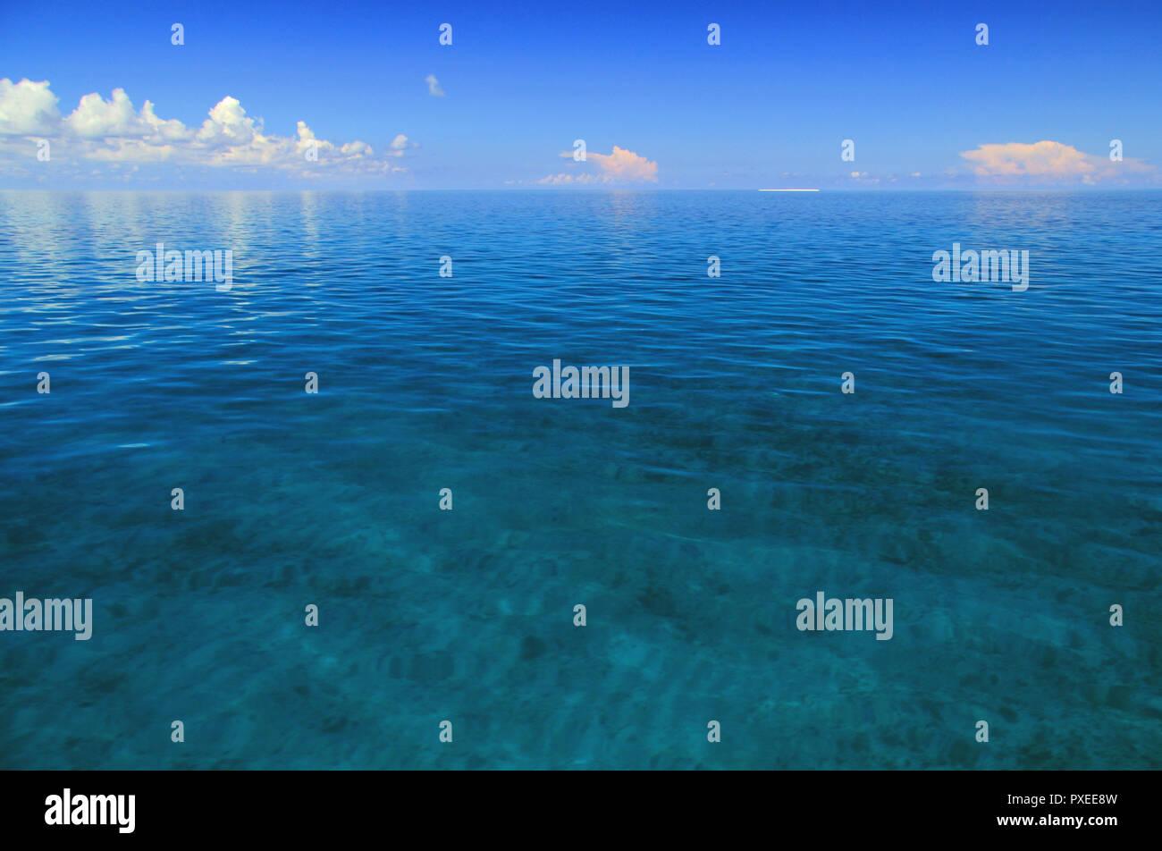 Osten, hier dargestellt, ist einer der am wenigsten zugängliche der sieben Inseln, Dry Tortugas National Park in den Florida Keys Stockfoto