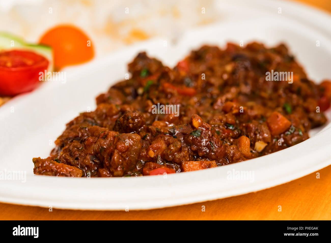 Traditionelle Mexikanische Chili Bohnen Suppe Oder Chili Con Carne