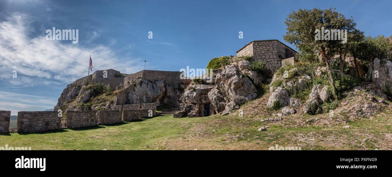 Knin Festung in Dalmatien in Kroatien Stockbild
