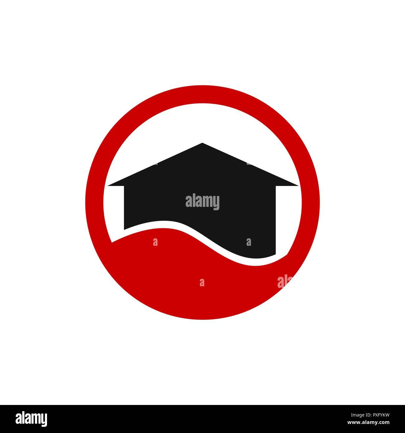 Kreis Rot Immobilien Logo Und Visitenkarte Vorlage Vektor