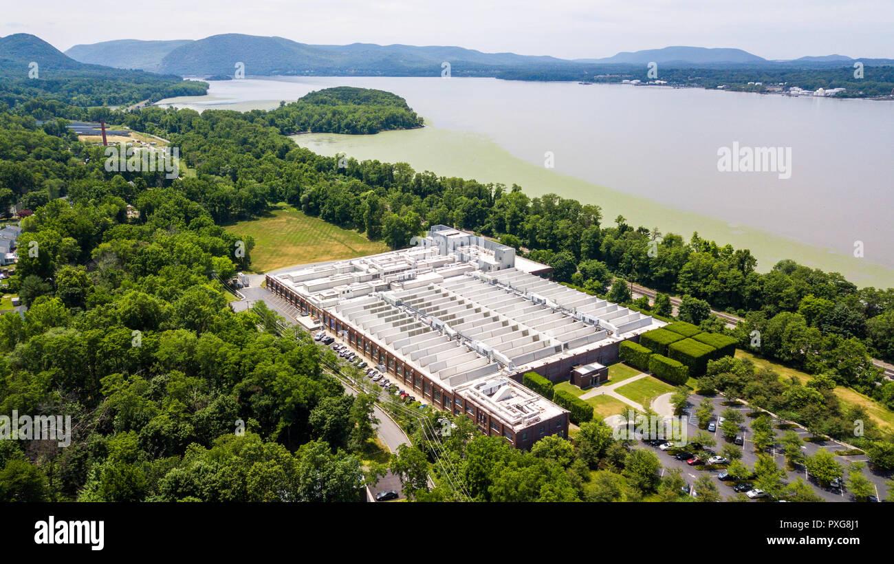 Dia: Beacon Museum für zeitgenössische Kunst, Rundumleuchte, NY, USA Stockbild