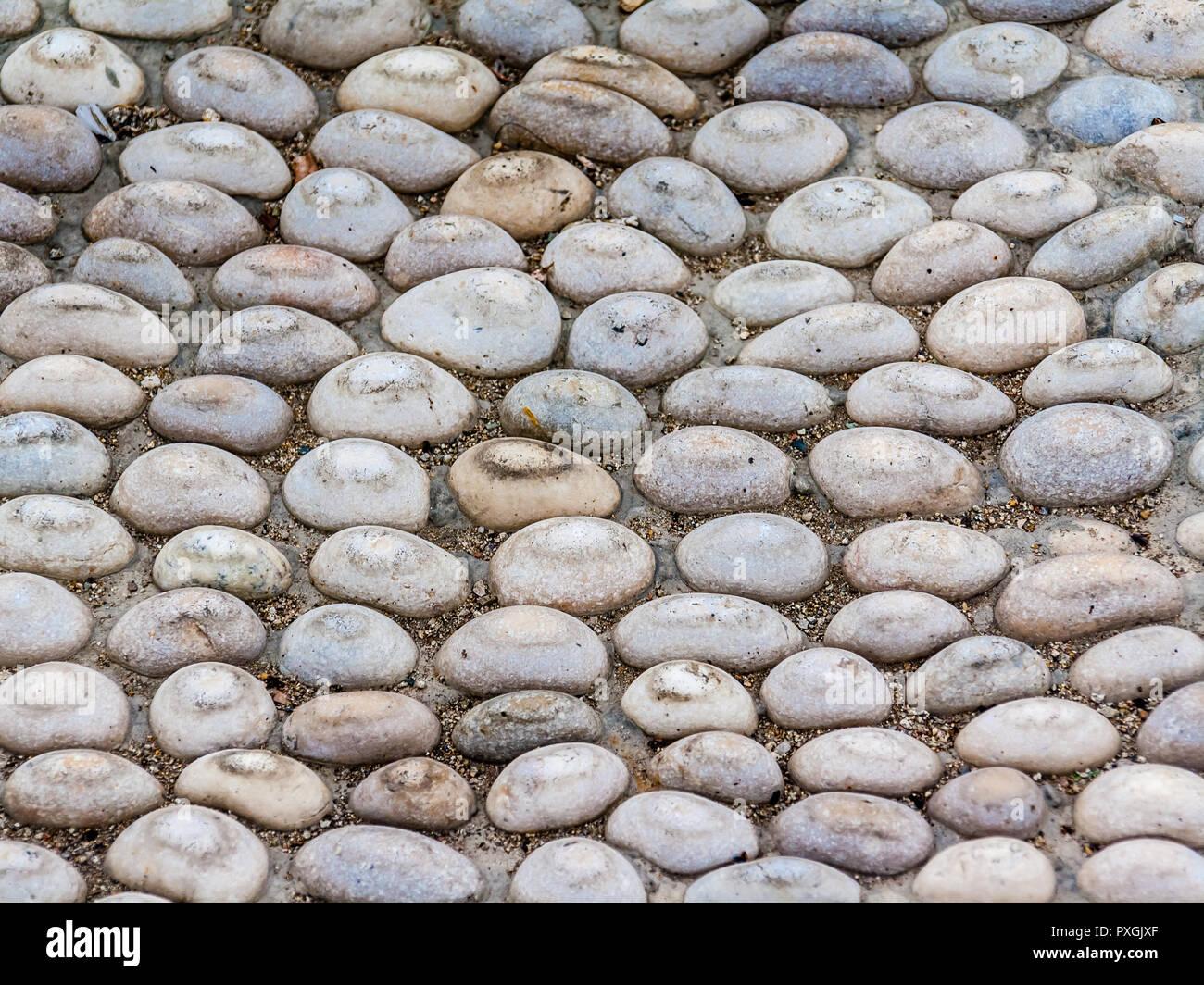 pebble pebbles path pavement stockfotos & pebble pebbles path
