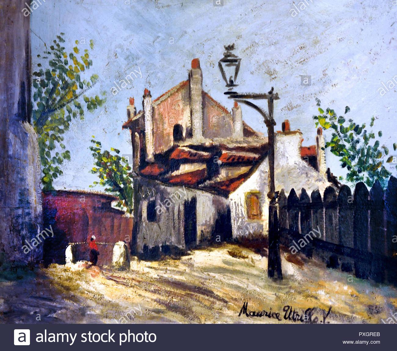 Maurice Utrillo (1883-1955) Rue du Mont-Cénis 1910 aus dem 19. Jahrhundert, Italien, Italienisch. Stockbild