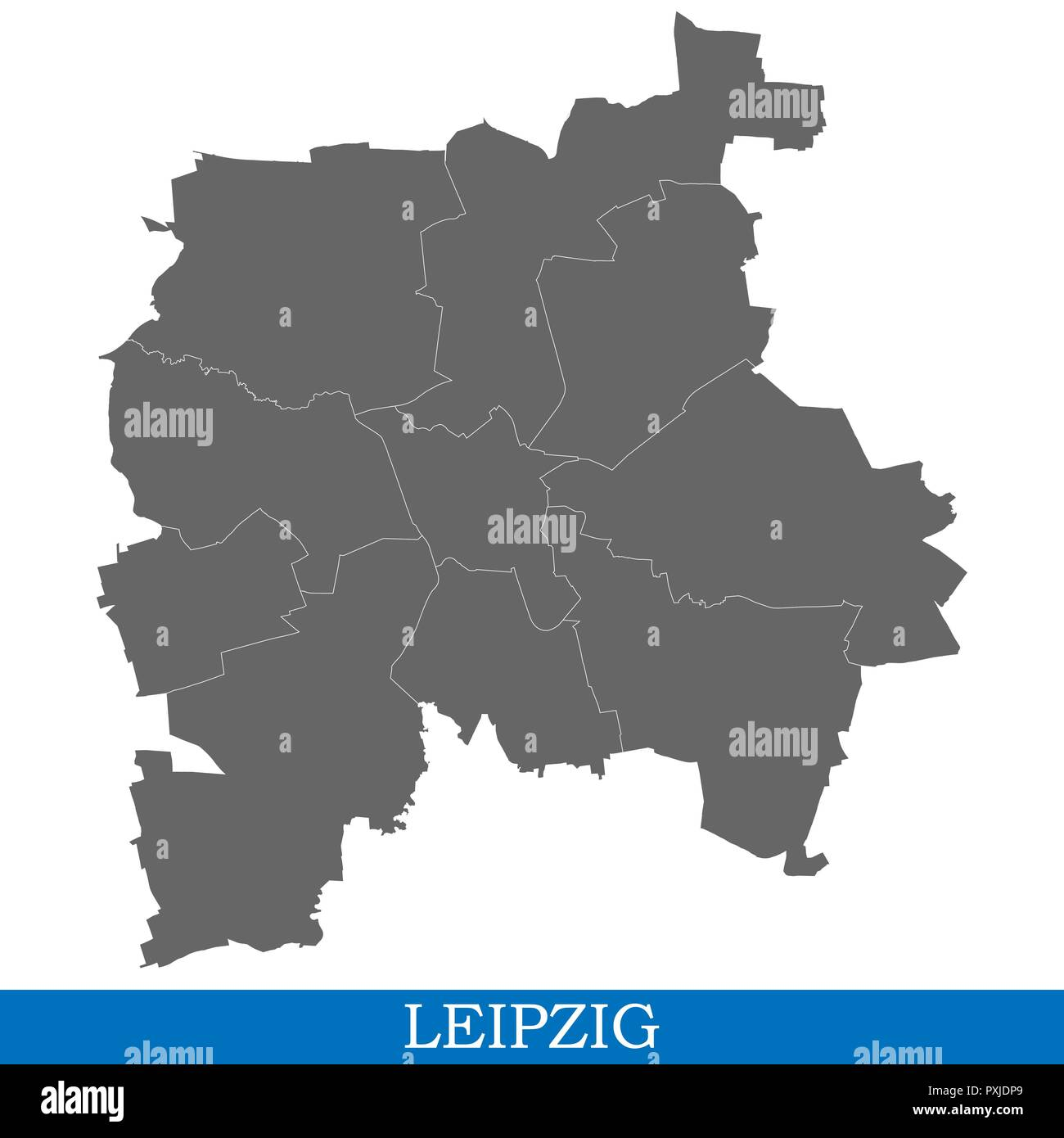 Hohe Qualitat Karte Von Leipzig Ist Eine Stadt In Deutschland Mit