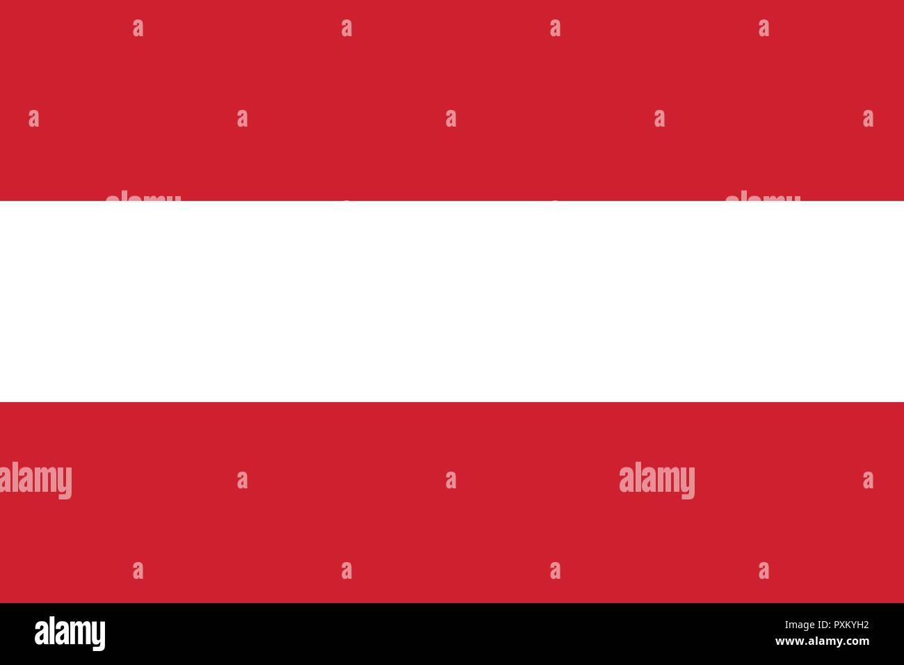 Vektor Bild Für österreich Flagge Auf Der Grundlage Der Offiziellen