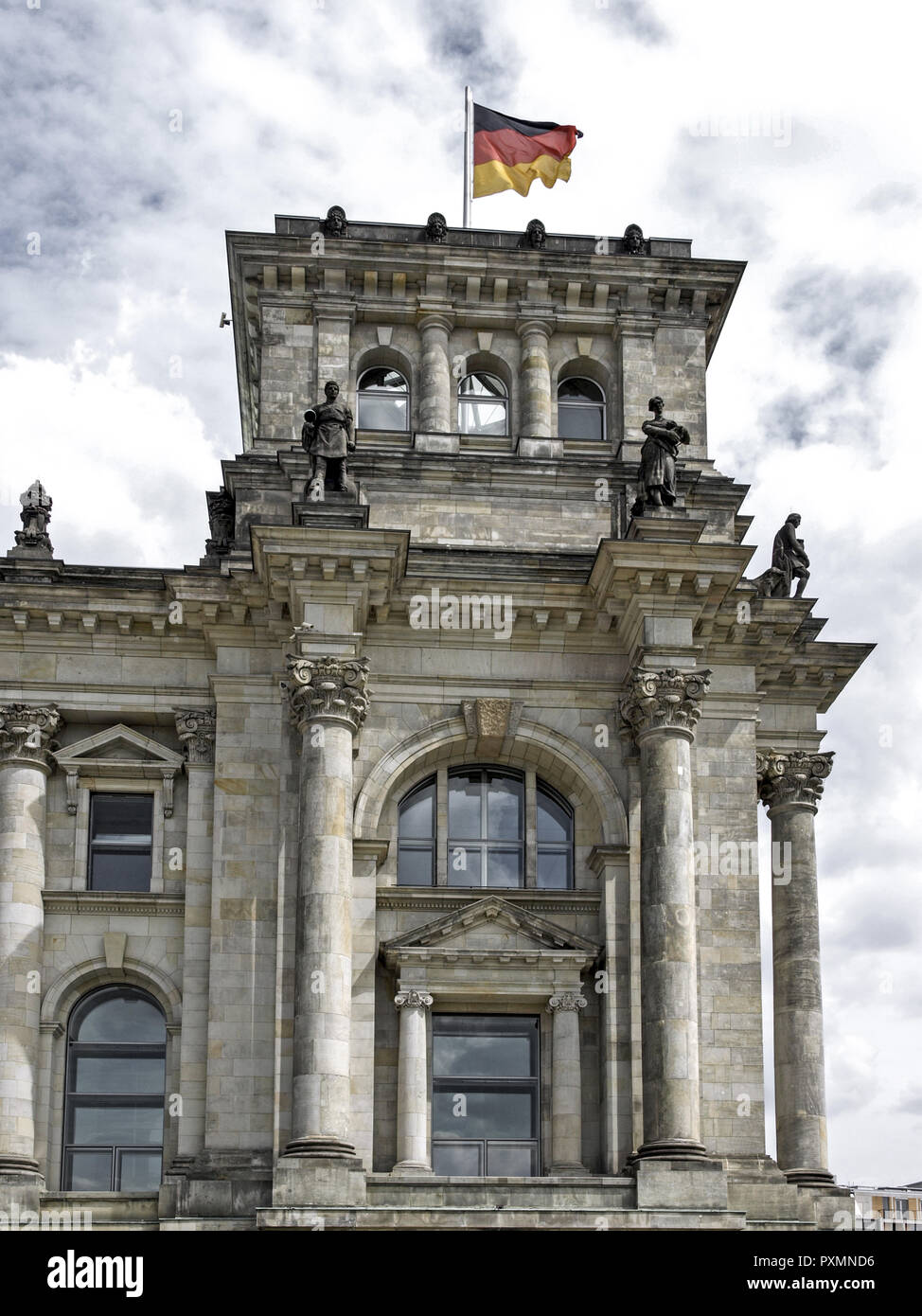 Deutschland, Berlin, Europa, Hauptstadt, Stadt, Sehenswuerdigkeit, Reichstagsgebaeude, Regierungsgebaeude, der Reichstag, der Regierungssitz, Deutscher Bundes Stockbild