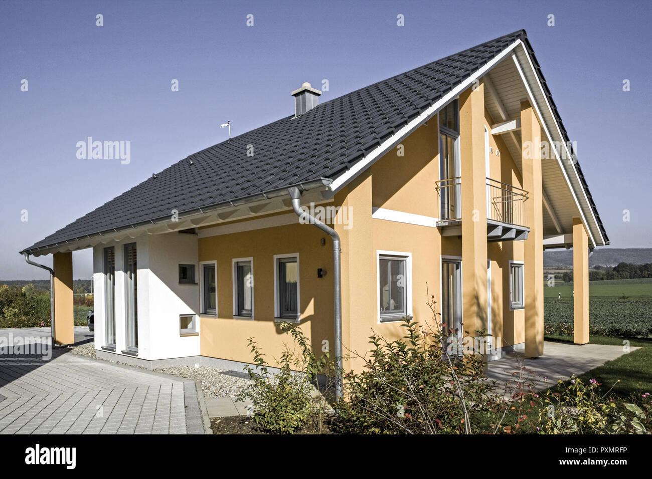 Einfamilienhaus Architektur Haus Wohnhaus Gebaeude Eigenheim