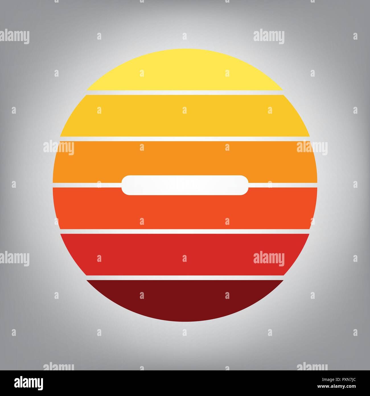 Negative Farben.Negative Symbol Abbildung Minuszeichen Vektor Horizontal