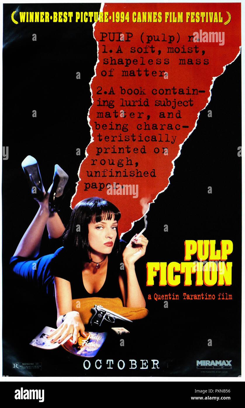 Pulp Fiction   Original filmplakat Stockfotografie   Alamy
