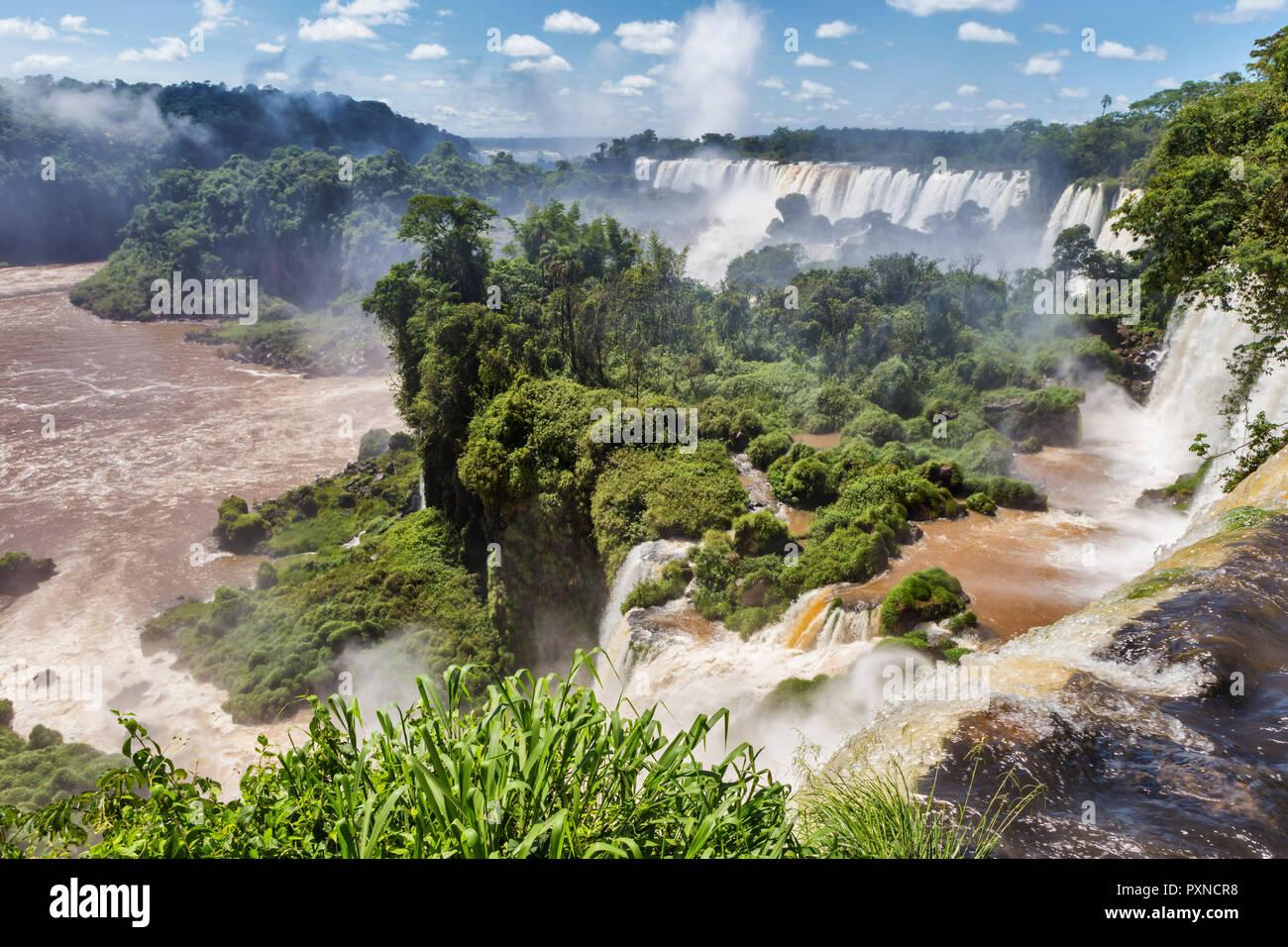 Die Iguazu Wasserfälle, Puerto Iguazu, Misiones, Argentinien Stockbild
