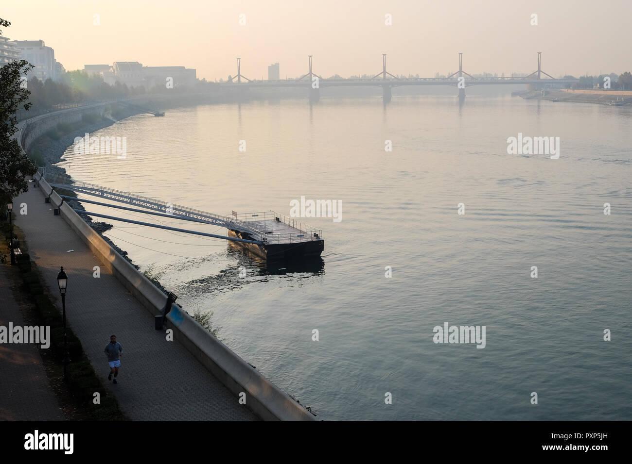 Budapest, die Hauptstadt von Ungarn. Ungarisch, Oktober 2018 Stockfoto