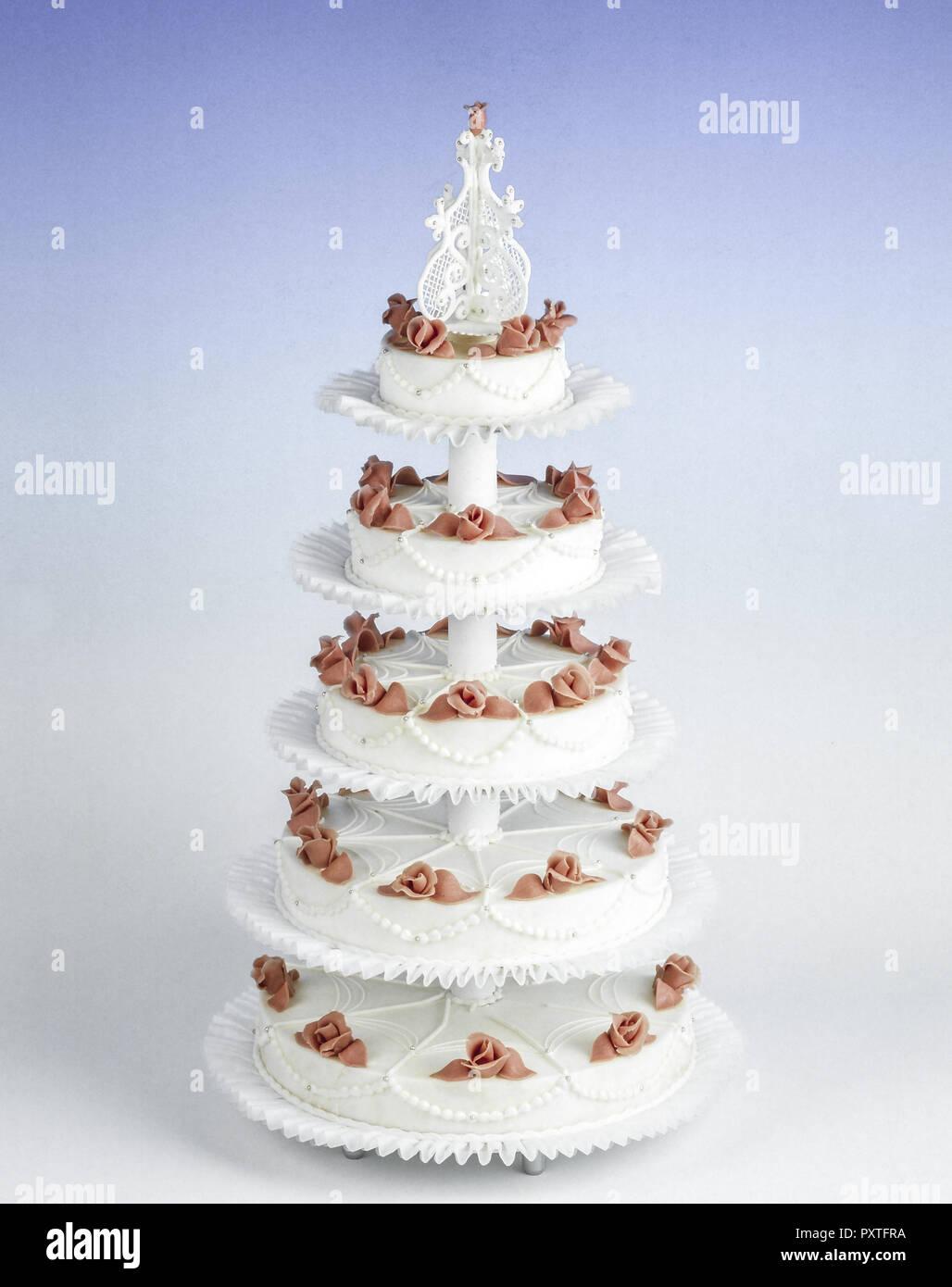 Funfstockige Hochzeitstorte Funf Tiered Hochzeit Kuchen