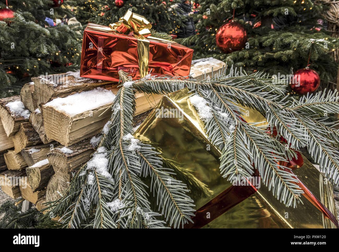 Schloss Hellbrunn Weihnachtsmarkt.Weihnachtsmarkt Schloss Hellbrunn Salzburg österreich Stockfoto