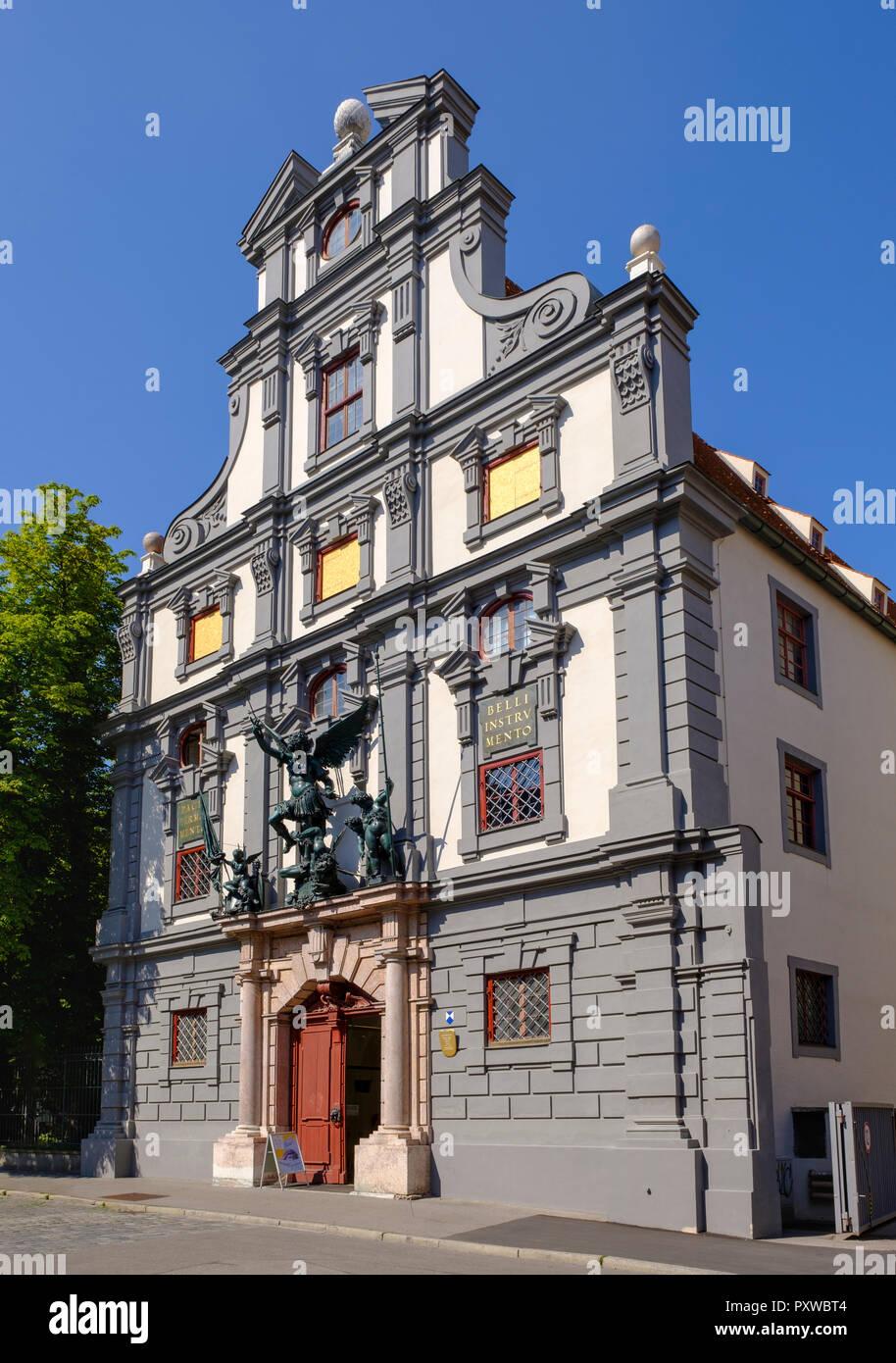 Deutschland, Augsburg, Waffenkammer Stockbild