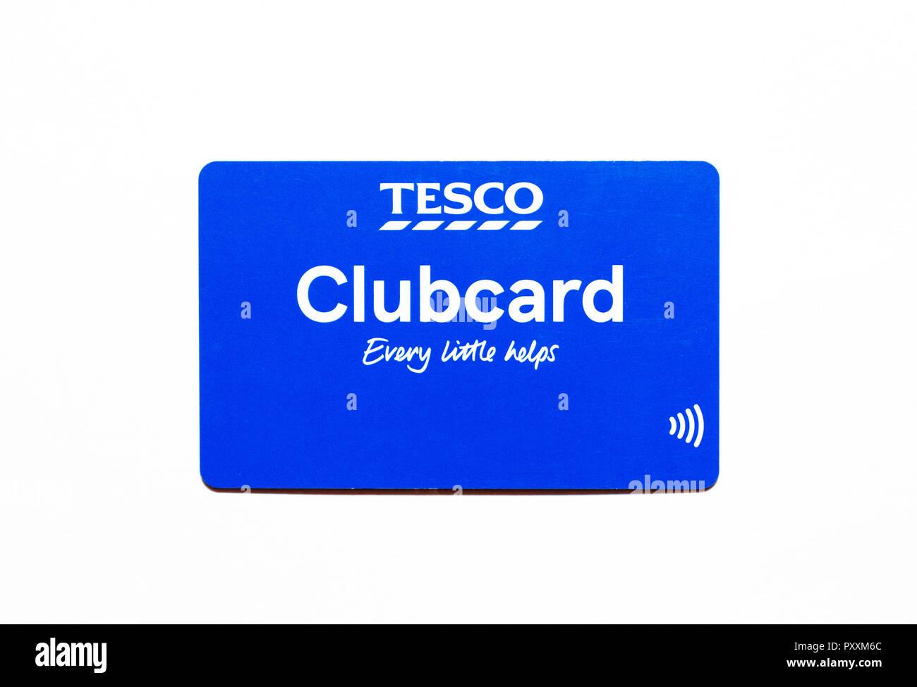 Tesco clubcard Karte Stockbild