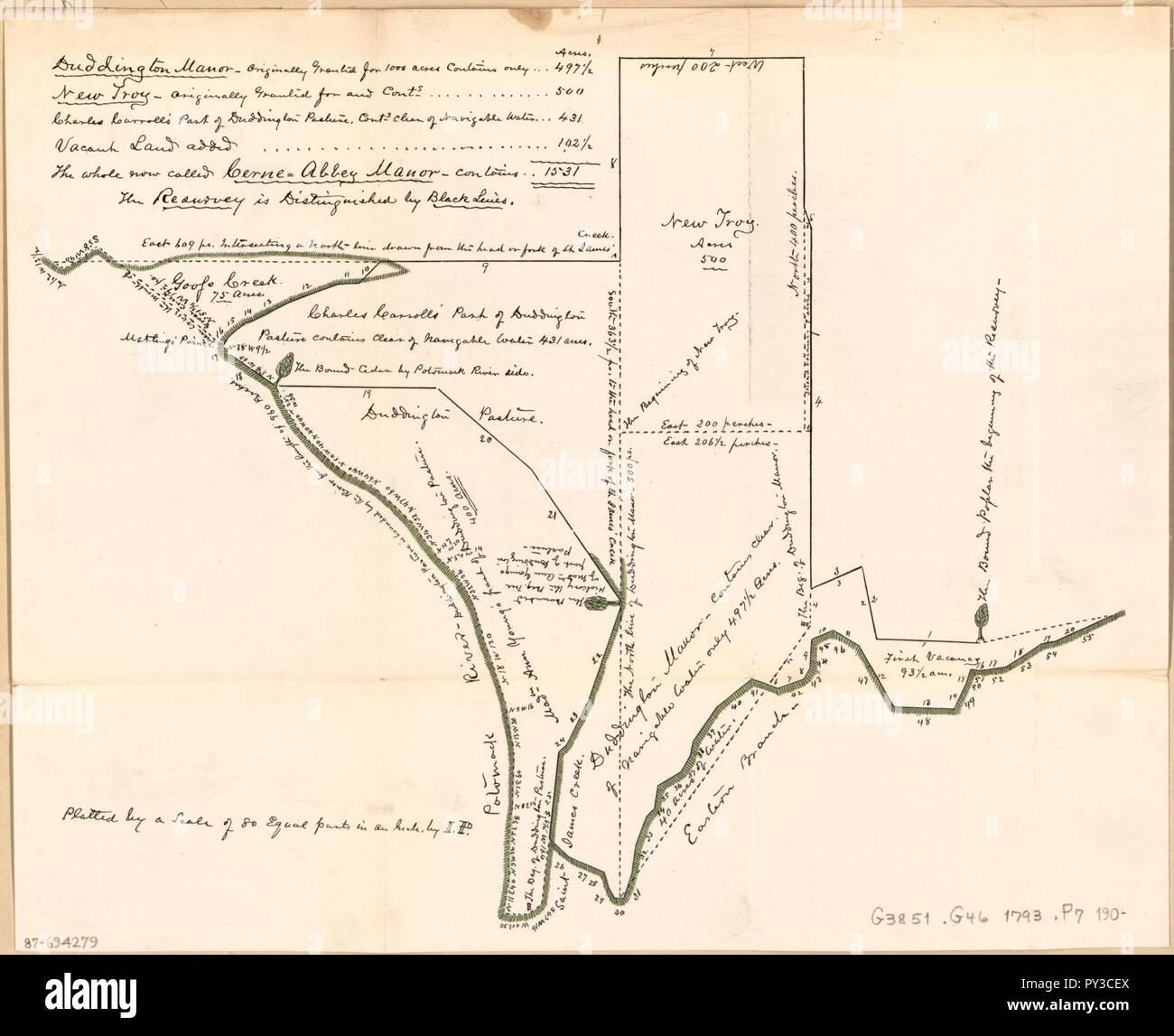 Washington Dc Karte.Vermessung Karte Von Land Flächen Im Zentrum Von Washington D C Ca