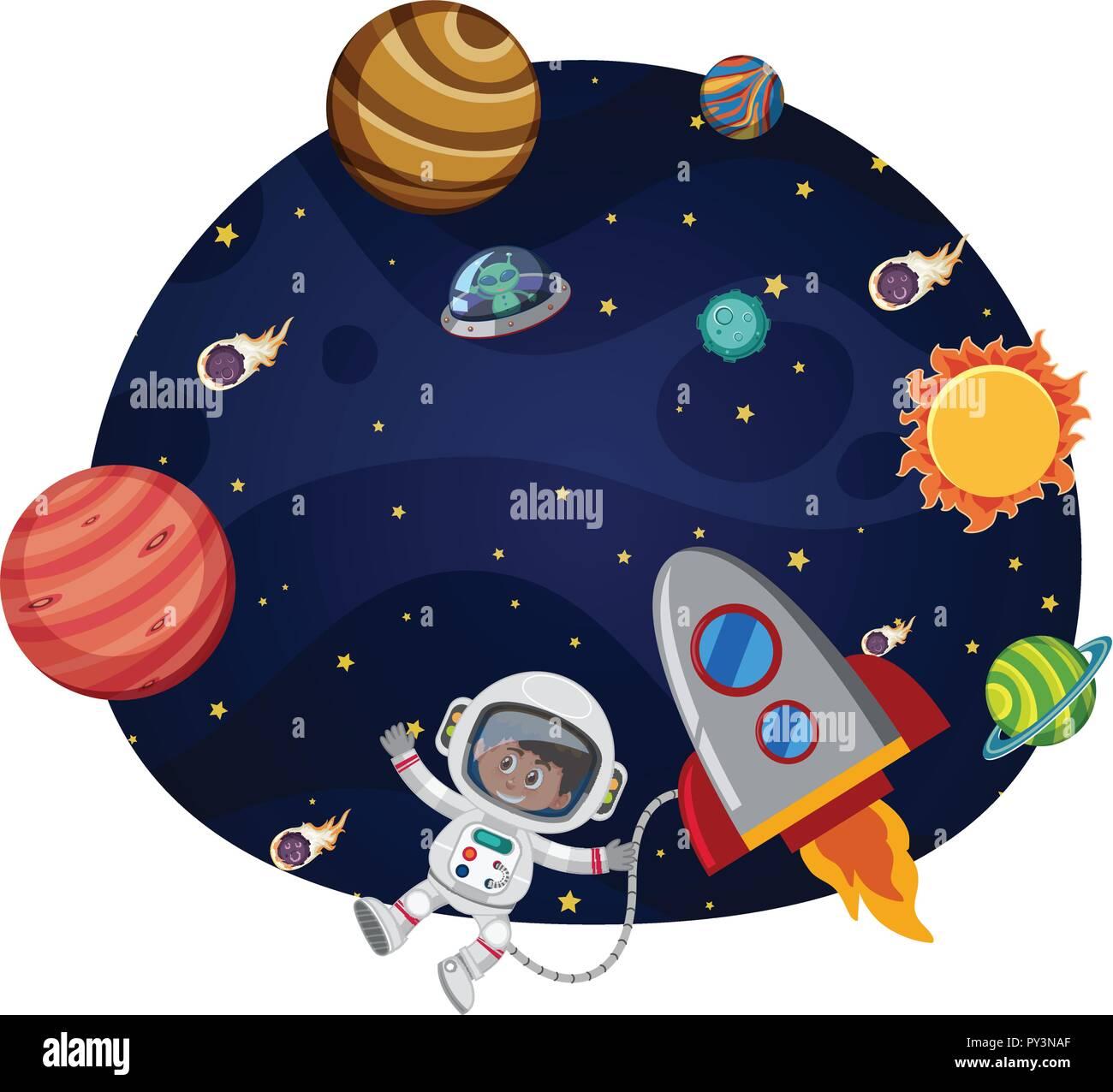 Ausmalbilder Himmel Weltraum Raumfahrt Sonne Mond Sterne 13