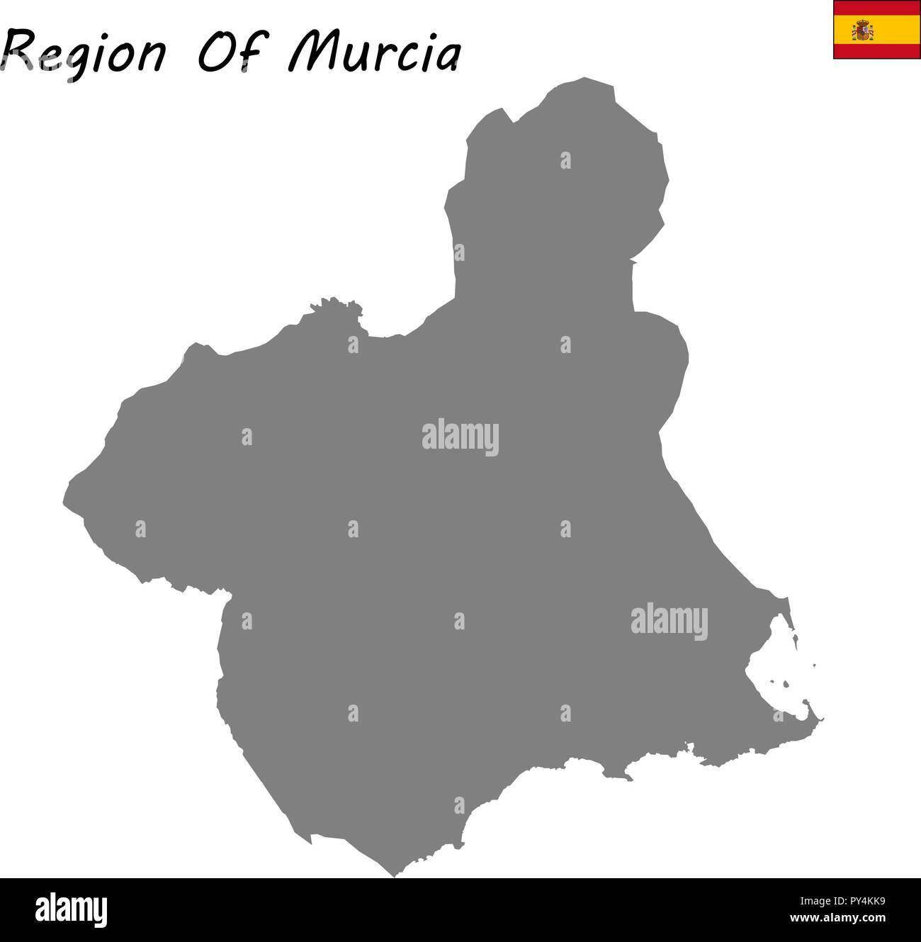 Autonome Regionen Spanien Karte.Hohe Qualitat Karte Autonome Gemeinschaft Spaniens Region