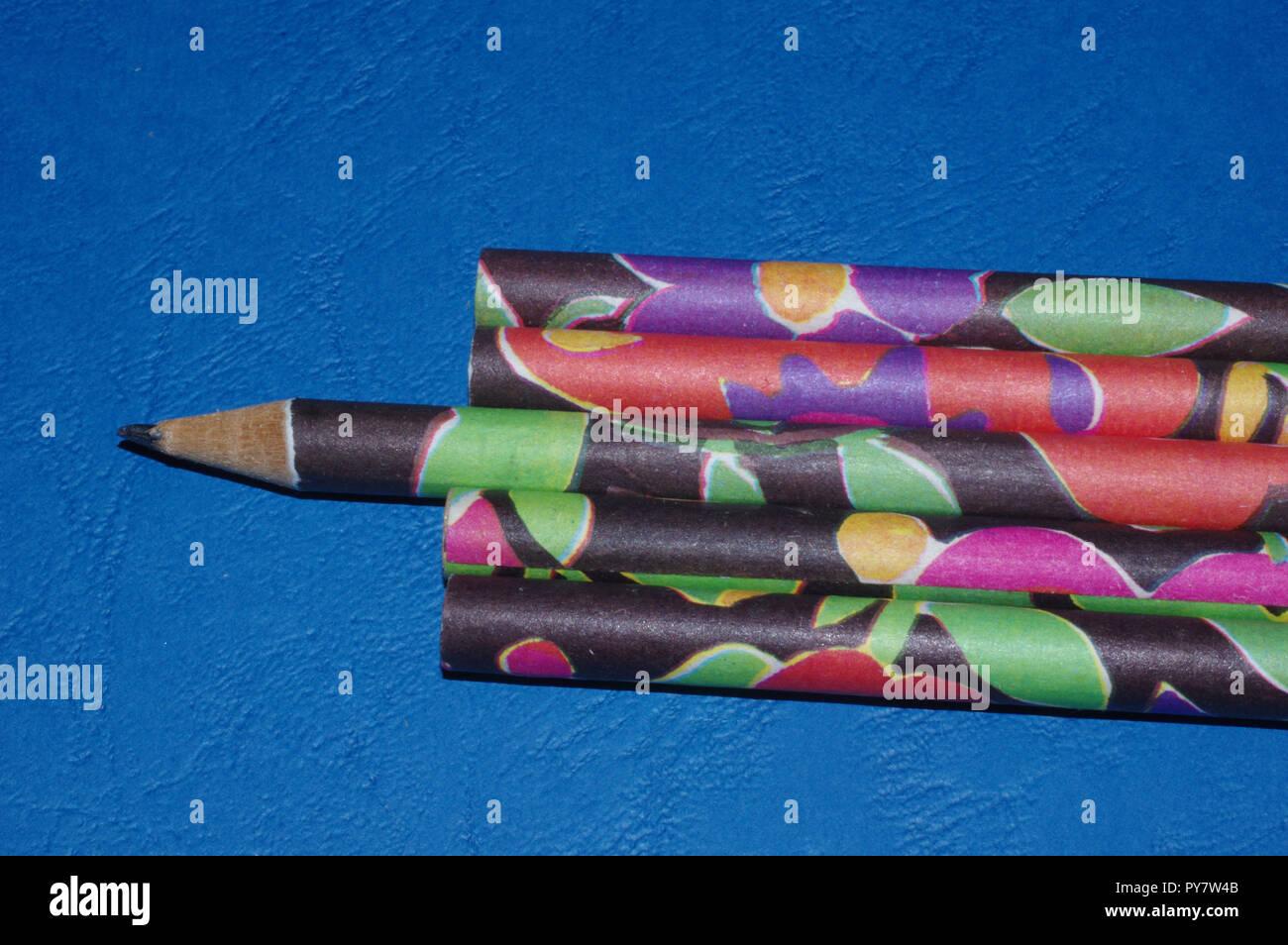 Multicolor Bleistifte close-up Stockbild