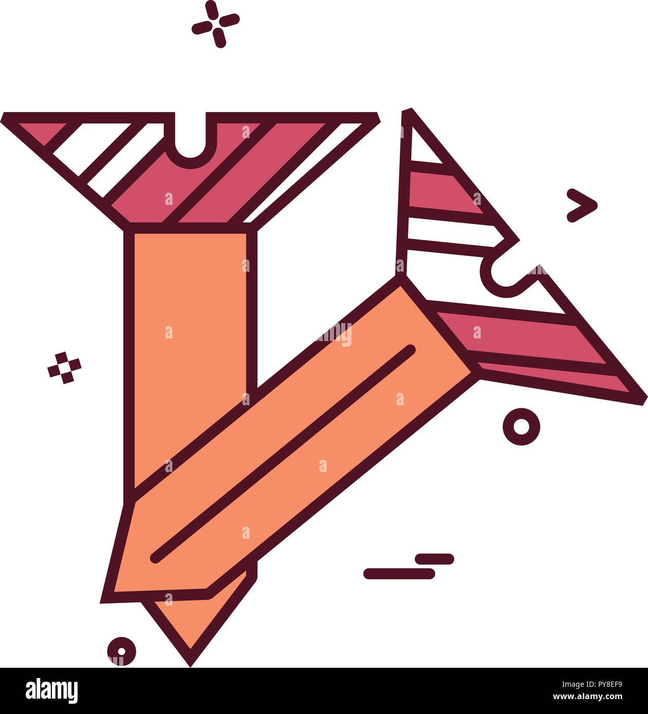Nagel Symbol vektor design Stock Vektor