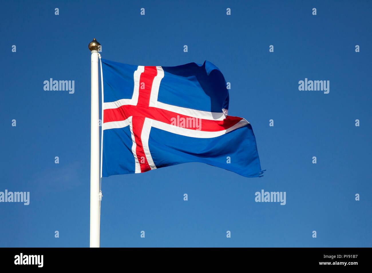 Island-Flagge Stockbild