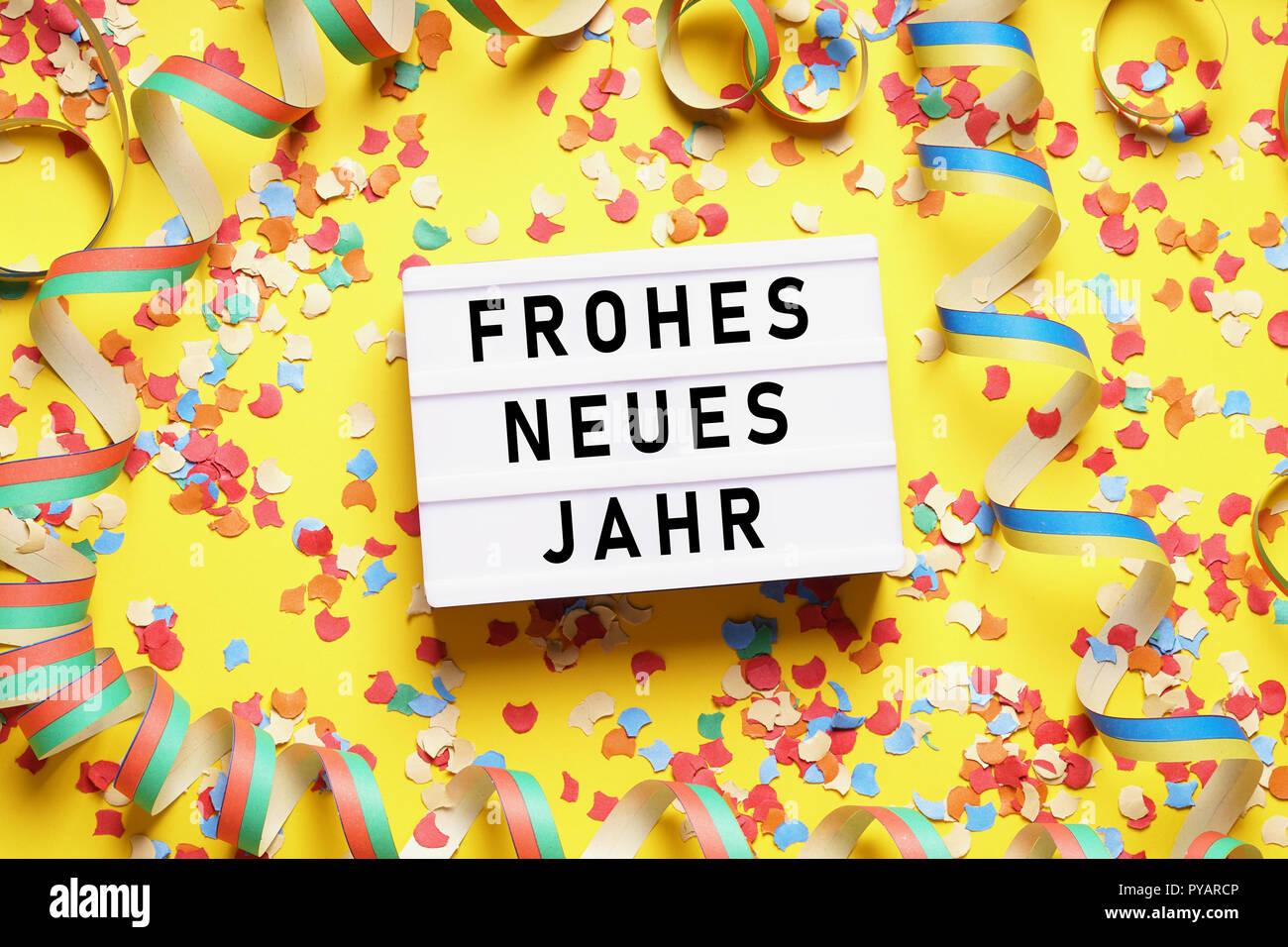Frohes Neues Jahr Auf Deutsch Stockfotos & Frohes Neues Jahr Auf ...