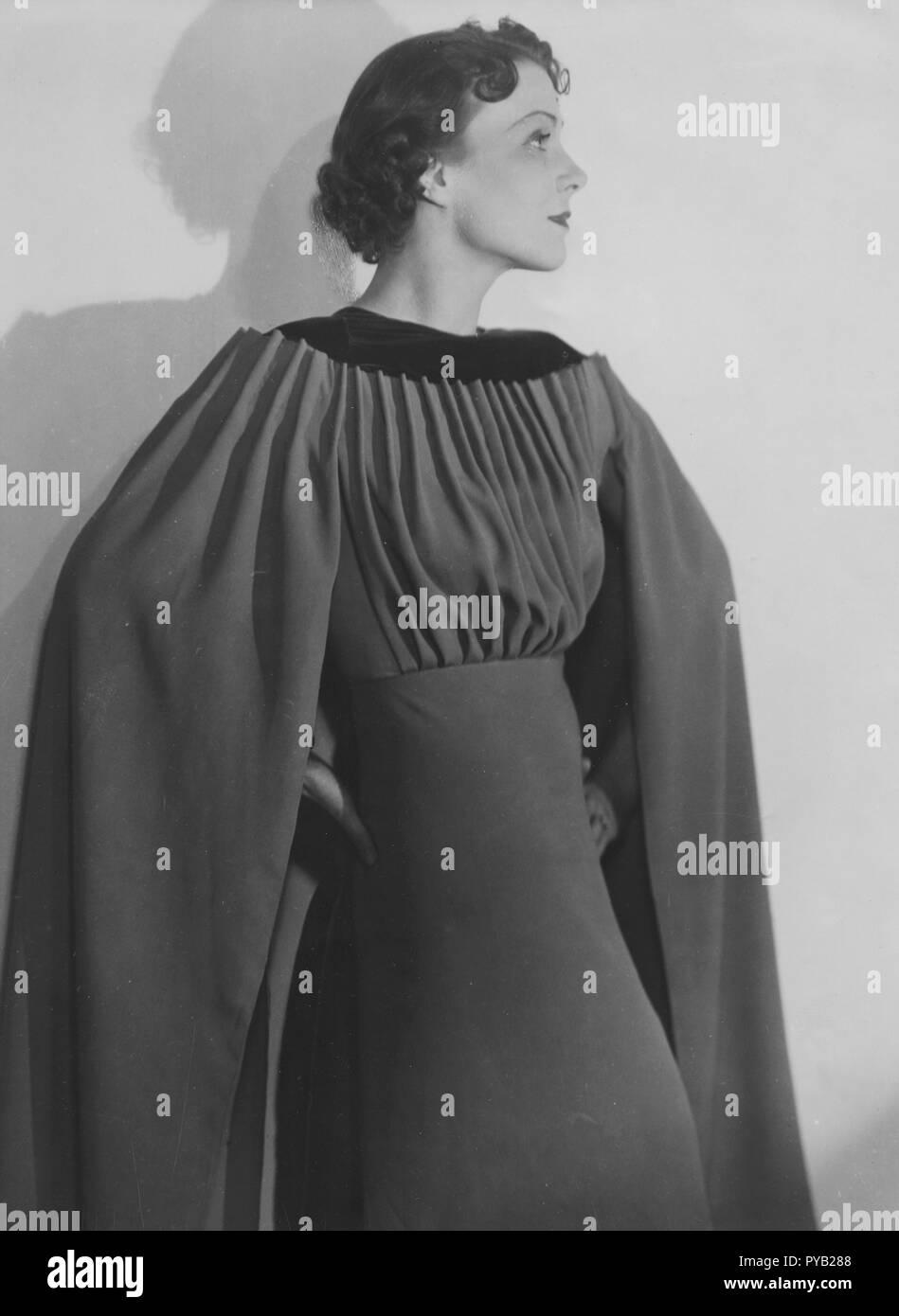 Schwedische Schauspielerin Karin Kavli. 1906-1990. Hier sehen sie 1936 bei der Wiedergabe von Geneviève im Spiel Cassini de Paris von Rudolf Lothar von Harry Roeck Hansen am Vasateatern in Stockholm 1936 Regie Stockbild