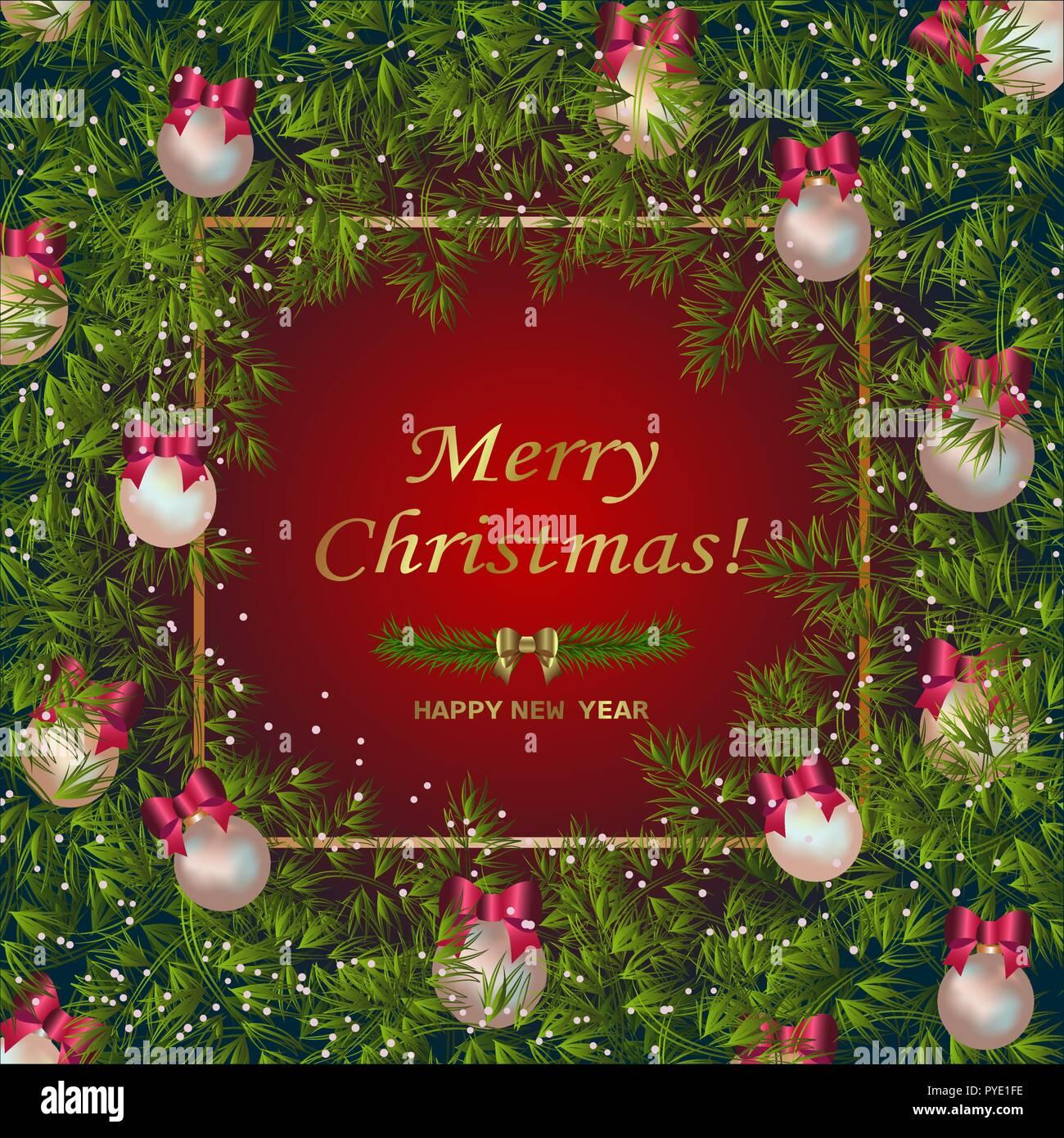 Der Goldene Konfetti. Gold Schriftzug Frohe Weihnachten und guten ...