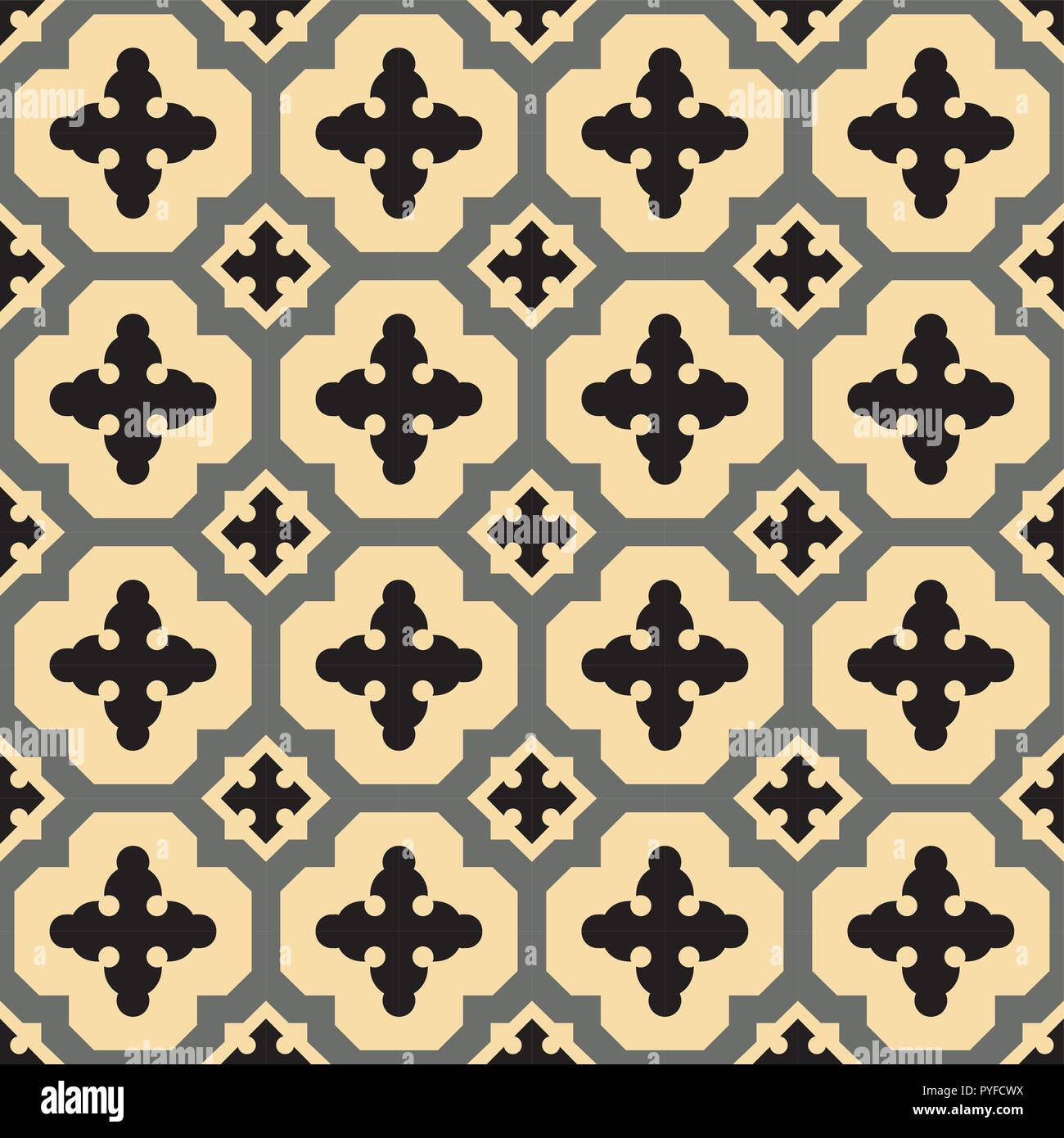 Fliesen Im Spanischen Stil Muster, Die In Der Regel In Fliesen In Spanien,  Portugal Und Anderen Ländern Des Mittelmeerraums Verwendet