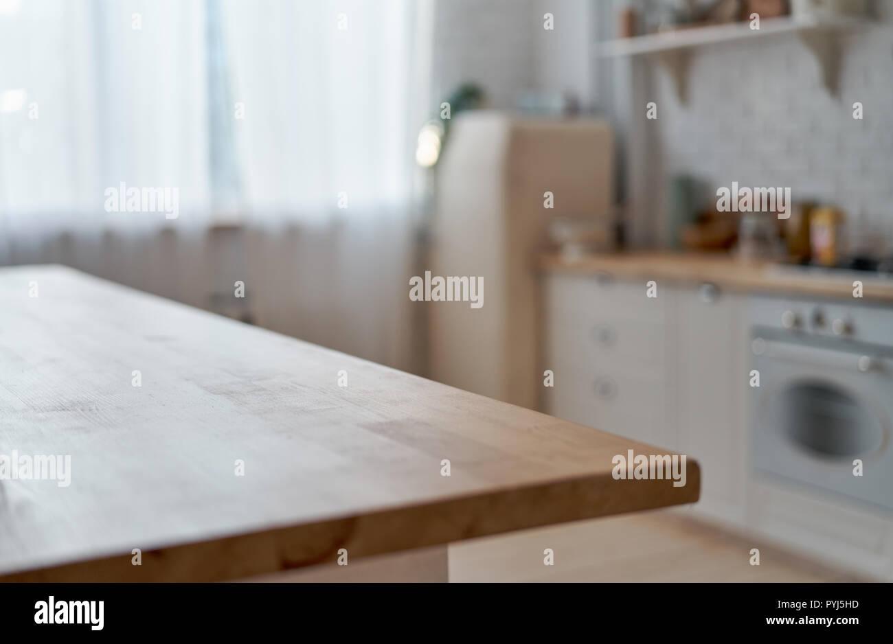 Küche Tisch Küche Hintergrund Stockfoto Bild 223519673 Alamy