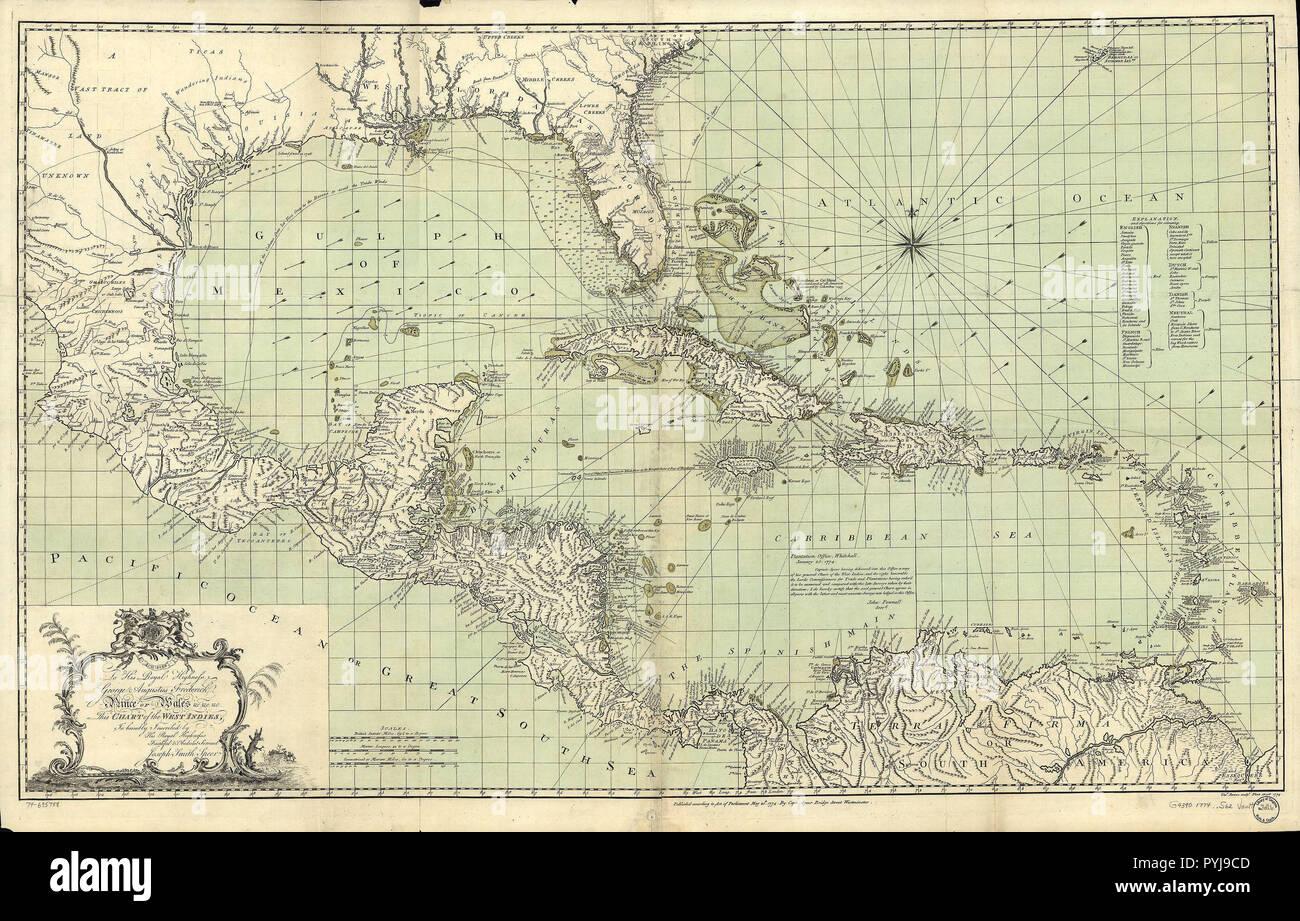 Vintage Karten/Antique Maps - Zeigt im Süden der USA, Mexiko ...