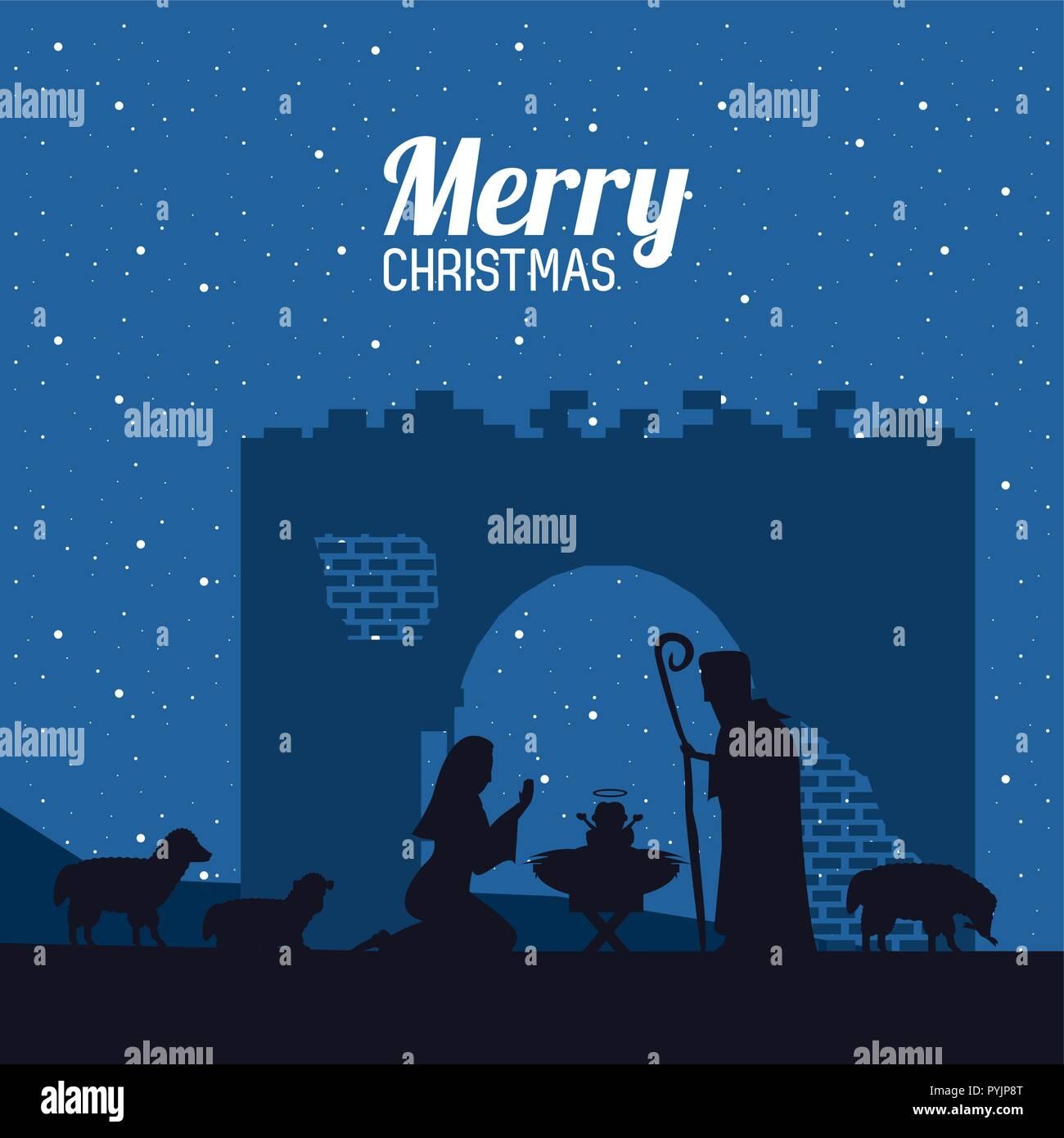 Christliche Bilder Weihnachten.Traditionelle Christliche Weihnachten Vektor Abbildung Bild