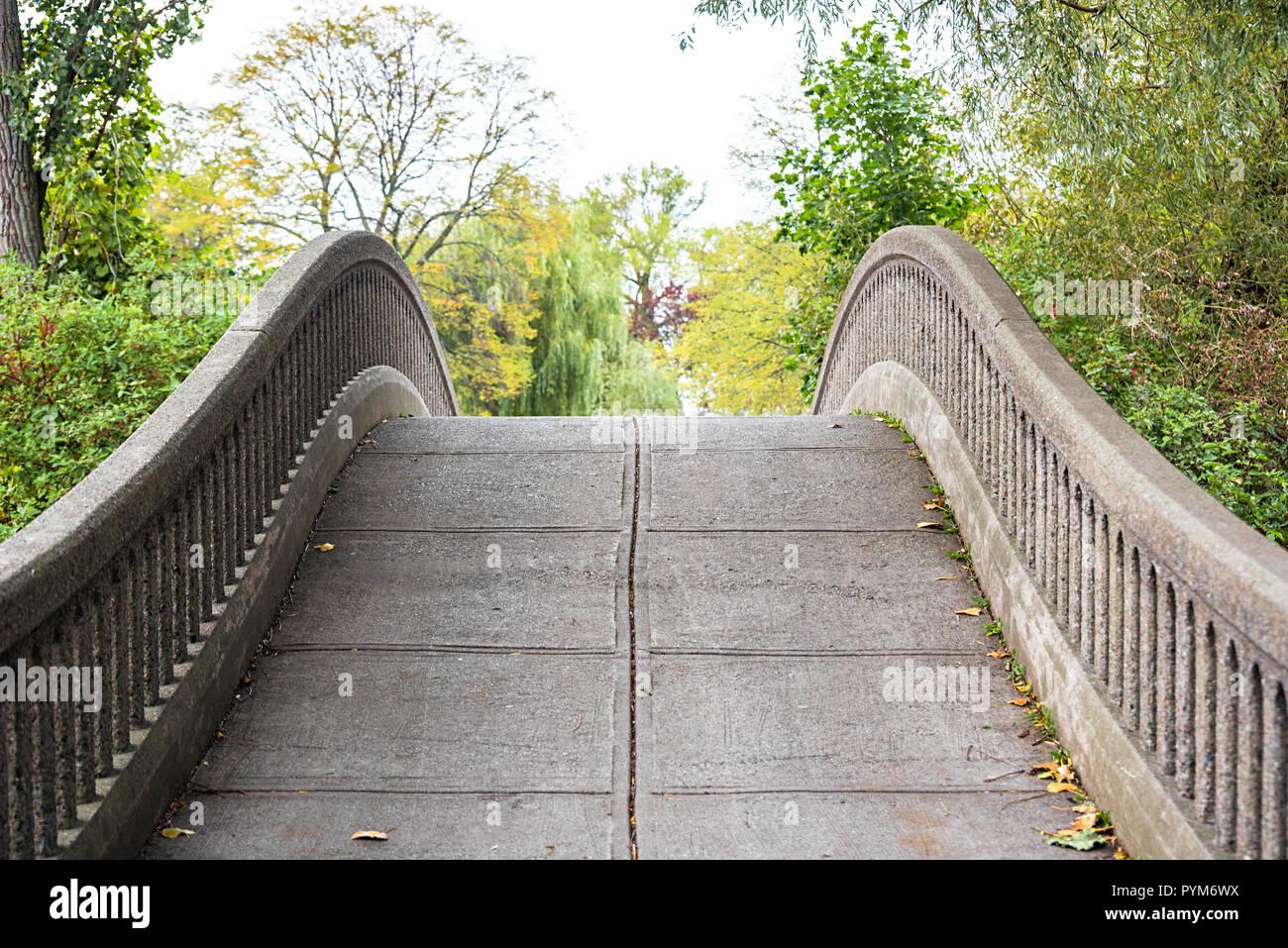 Die steinbogenbrücke auf der Insel von Toronto Stockfoto