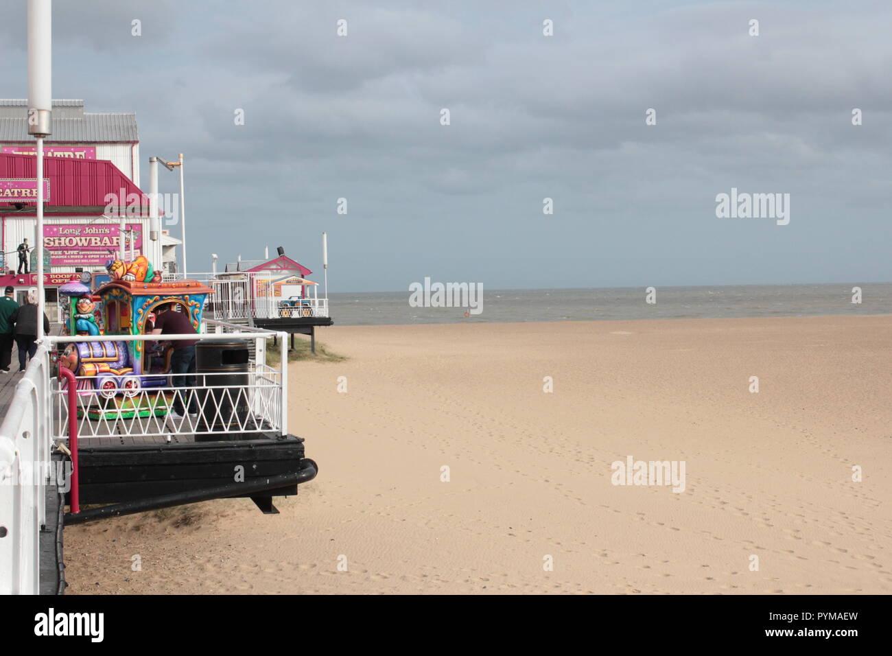 Seaside Beach saubere und sichere Stockbild