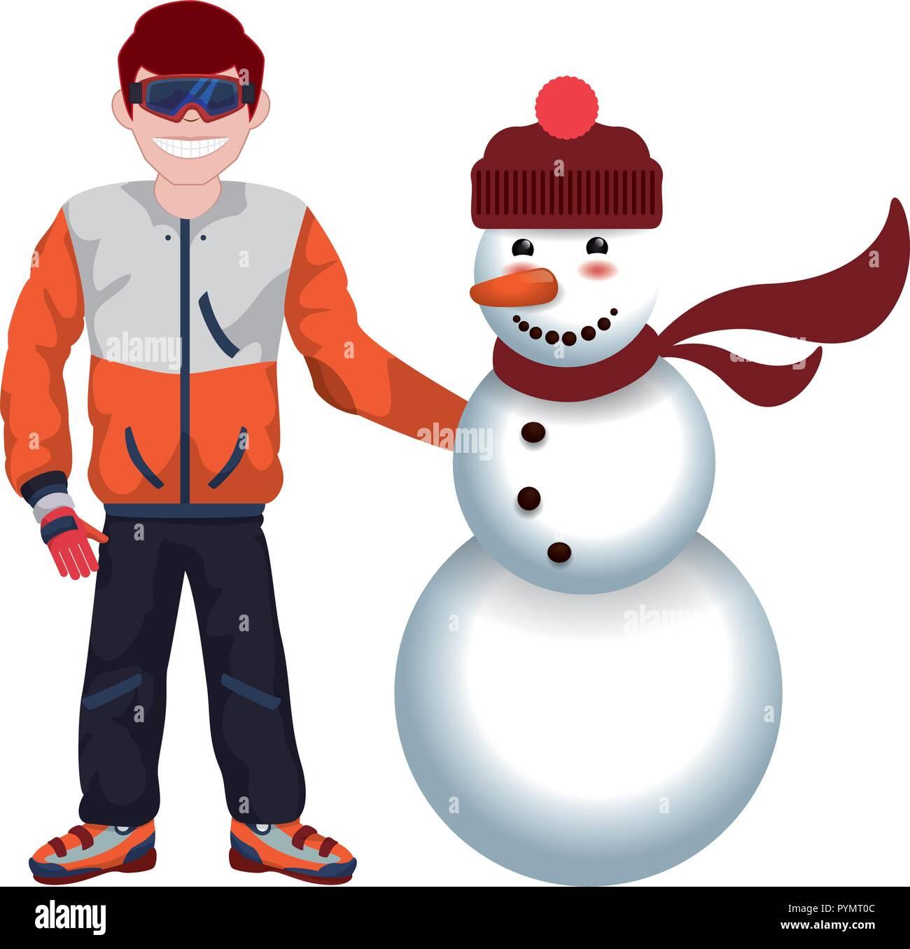 Snowman Comic Character Icon Stockfotos Snowman Comic Character
