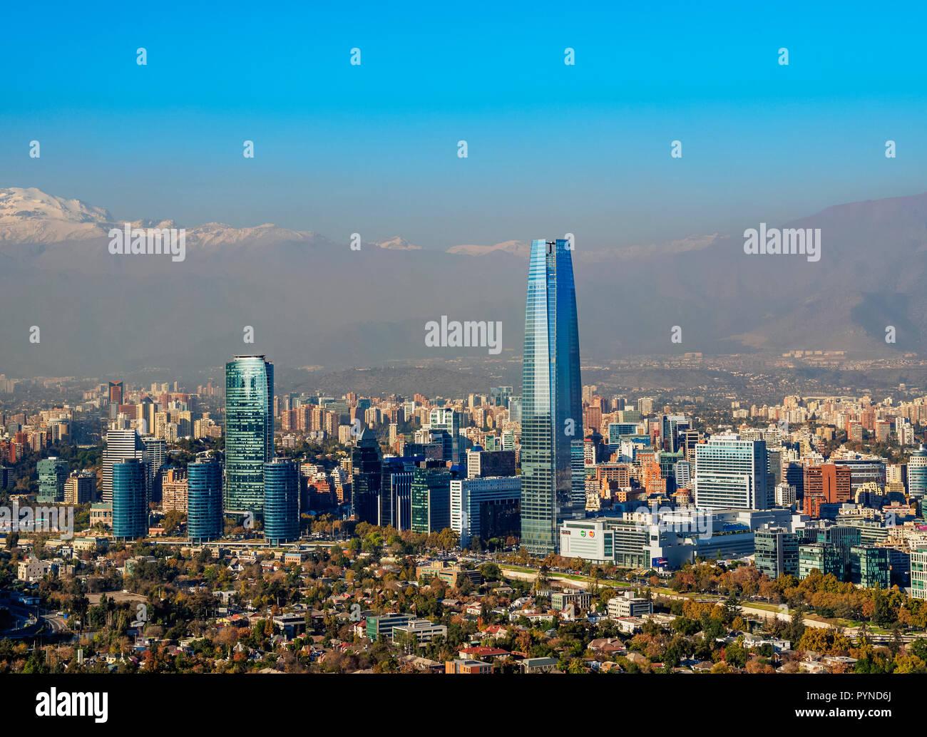 Stadtblick Gran Torre Santiago Von Der Metropolitan Park