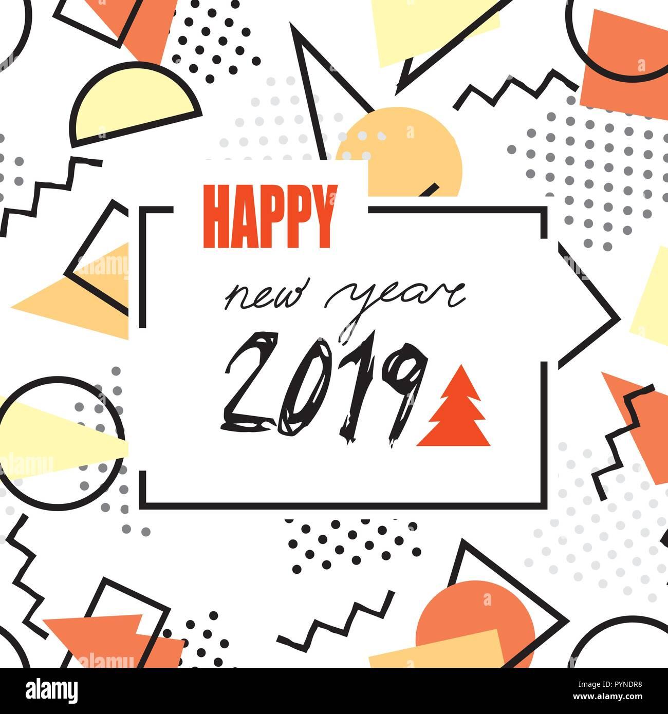 Winterurlaub Weihnachten 2019.Frohes Neues Jahr 2019 Das Banner Abstrakte Winterurlaub